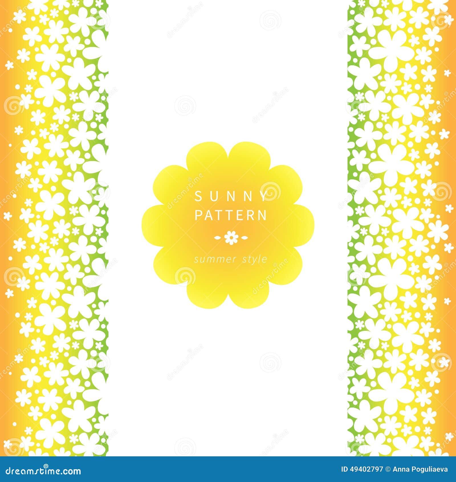 Download Weiße Nahtlose Mit Blumengrenze Auf Hellem Hintergrund Vektor Abbildung - Illustration von kamille, flourish: 49402797