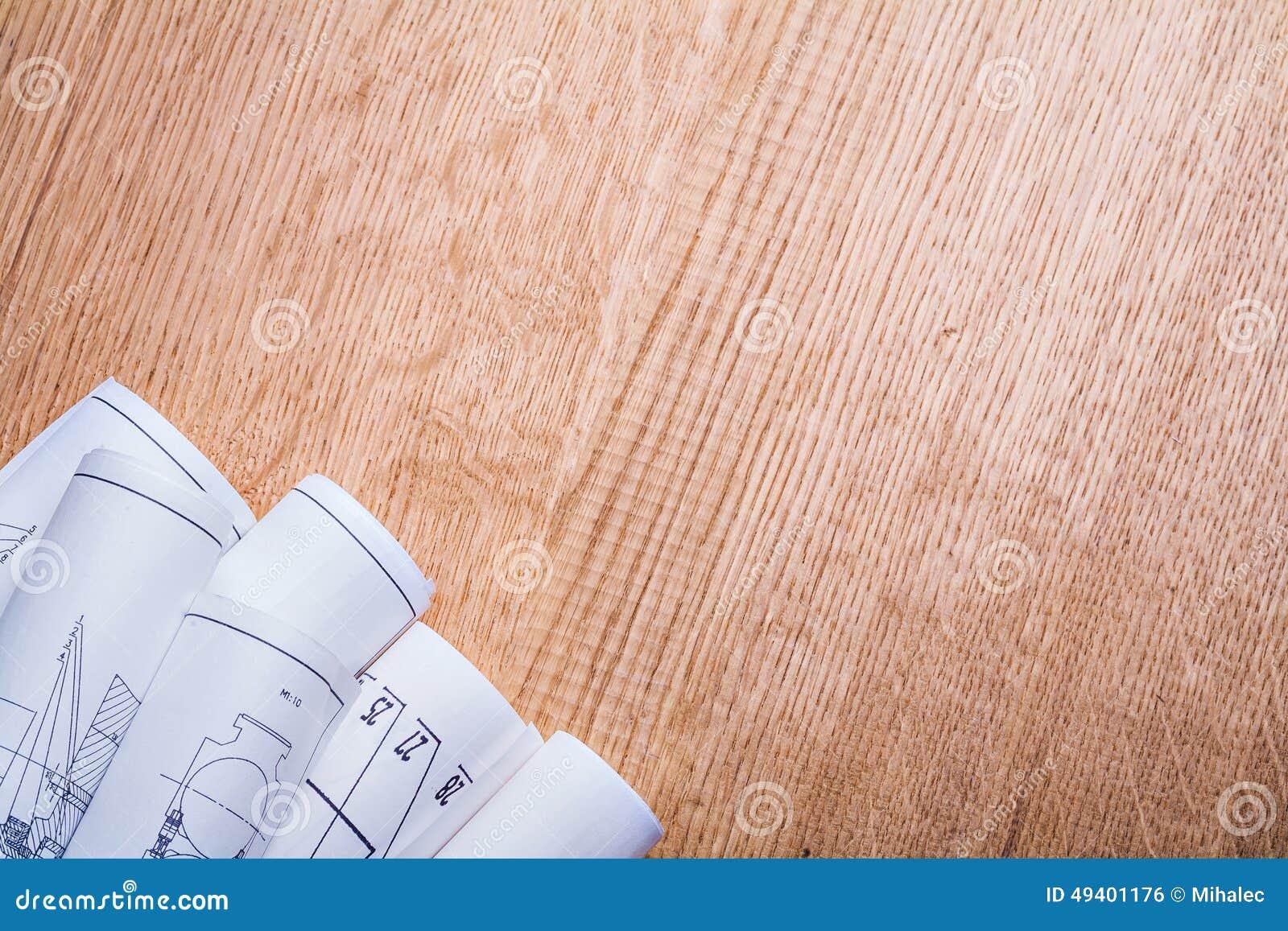 Download Weiße Pläne Copyspace-Bildes Auf Altem Braun Stockfoto - Bild von ideen, leer: 49401176