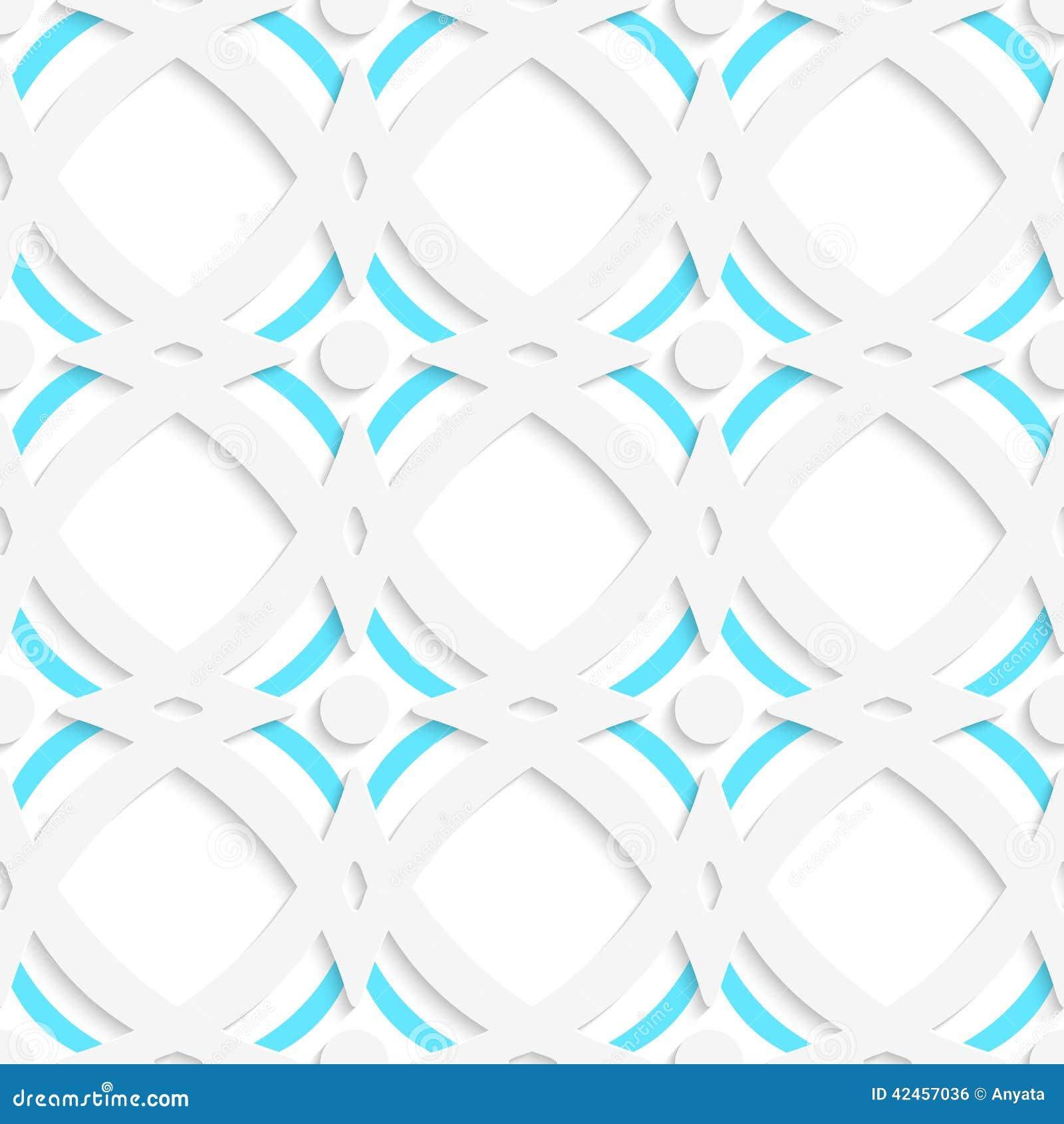 Weiße Rauten und blaue Verzierung