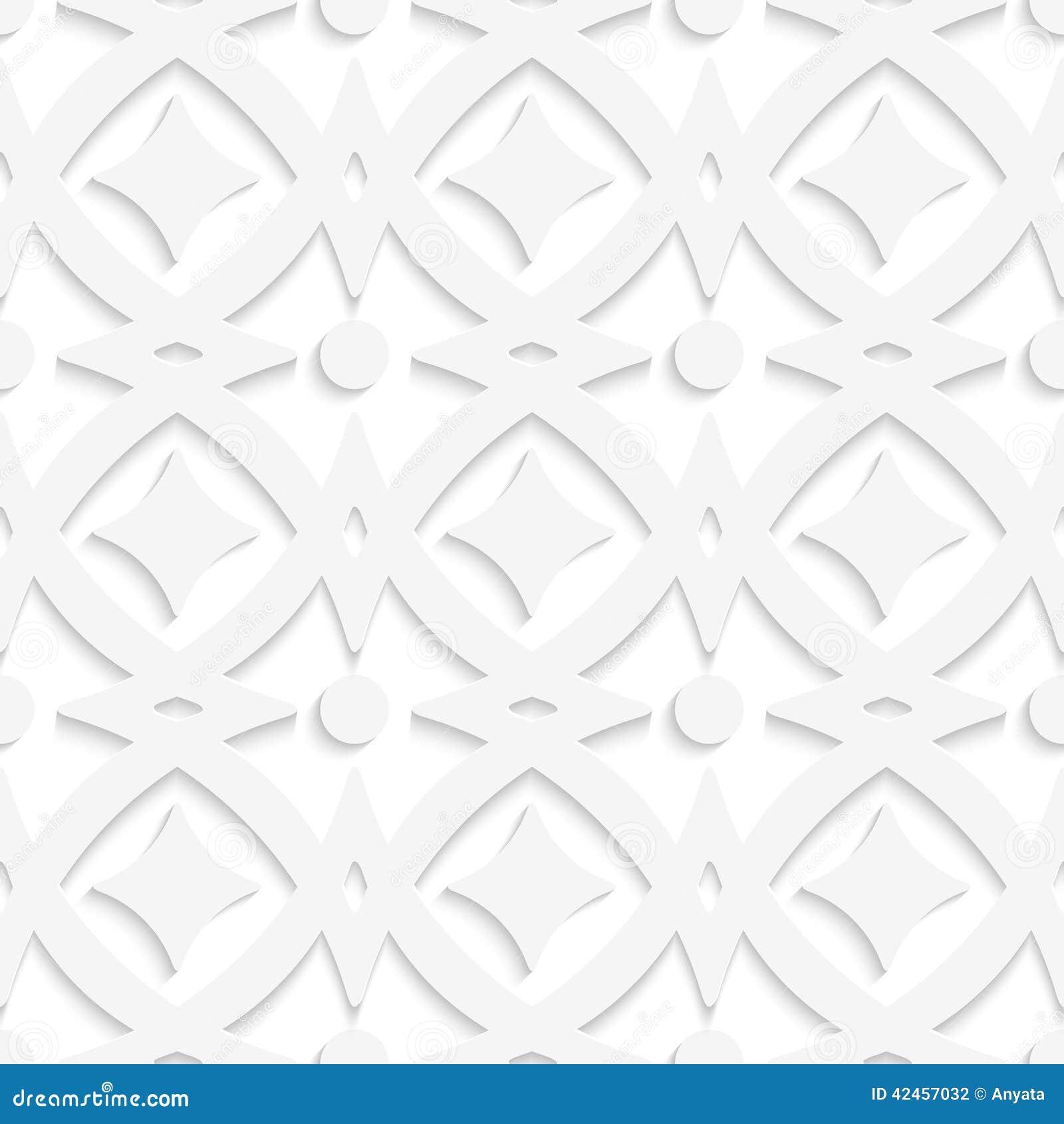 Weiße Rauten und weiße Verzierung