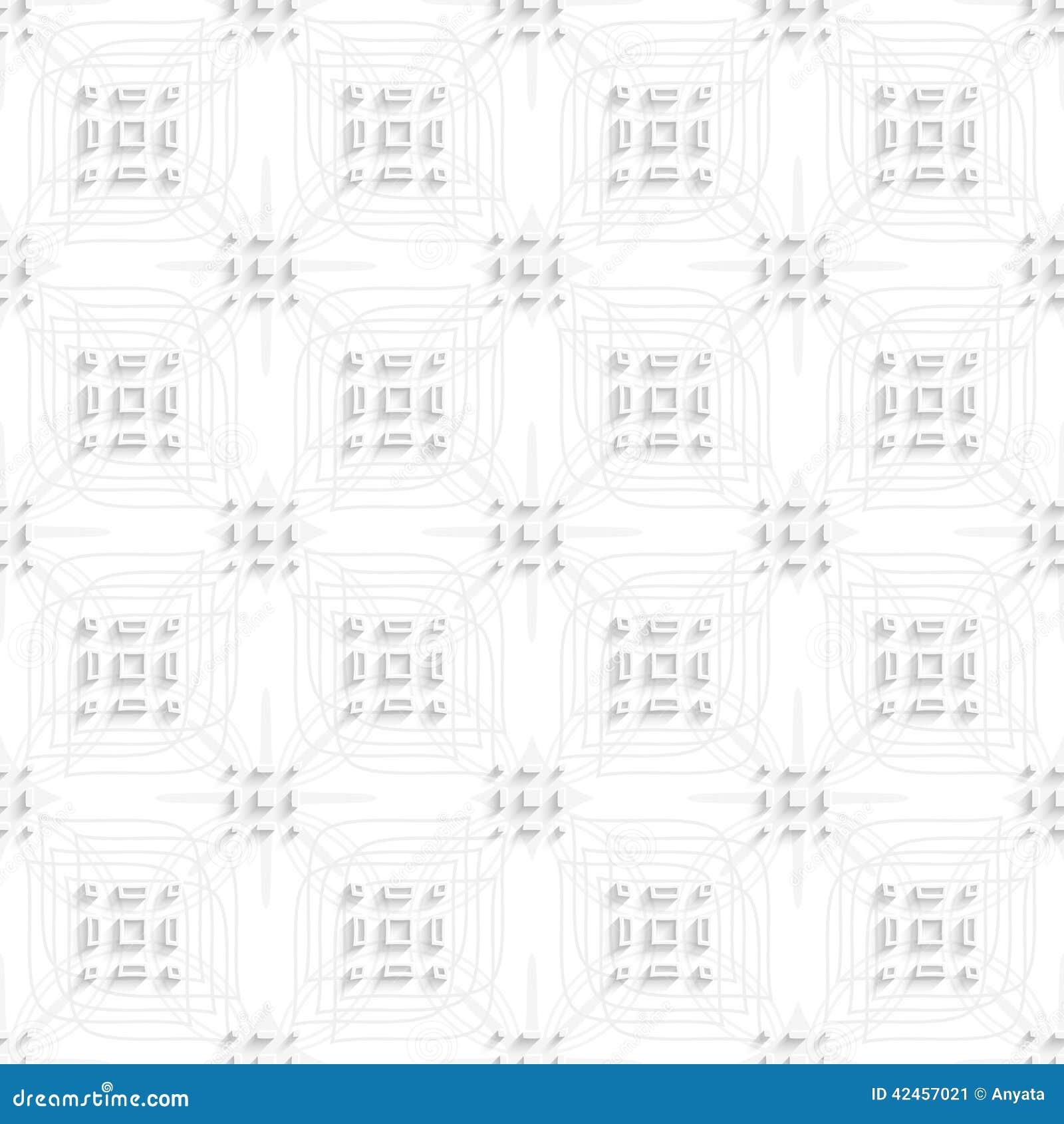 Weiße Rechteckgruppen auf der grauen Verzierung nahtlos