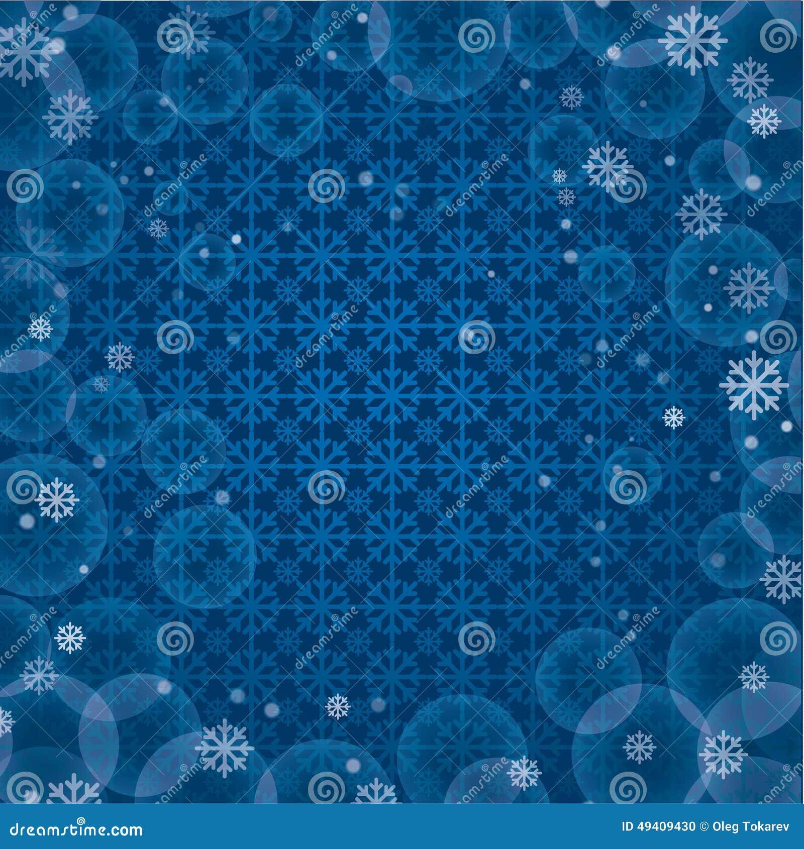 Download Weiße Schneeflocken Auf Einem Blauen Hintergrund Stock Abbildung - Illustration von flocke, weihnachten: 49409430