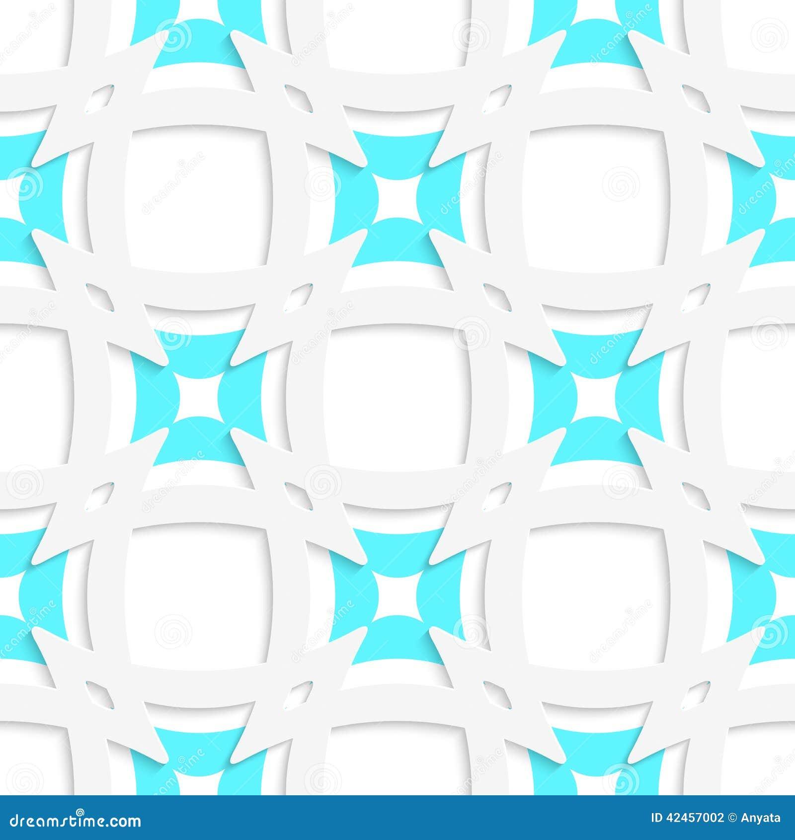 Weiße spitze Quadrate mit dem blauen inneren Teil nahtlos