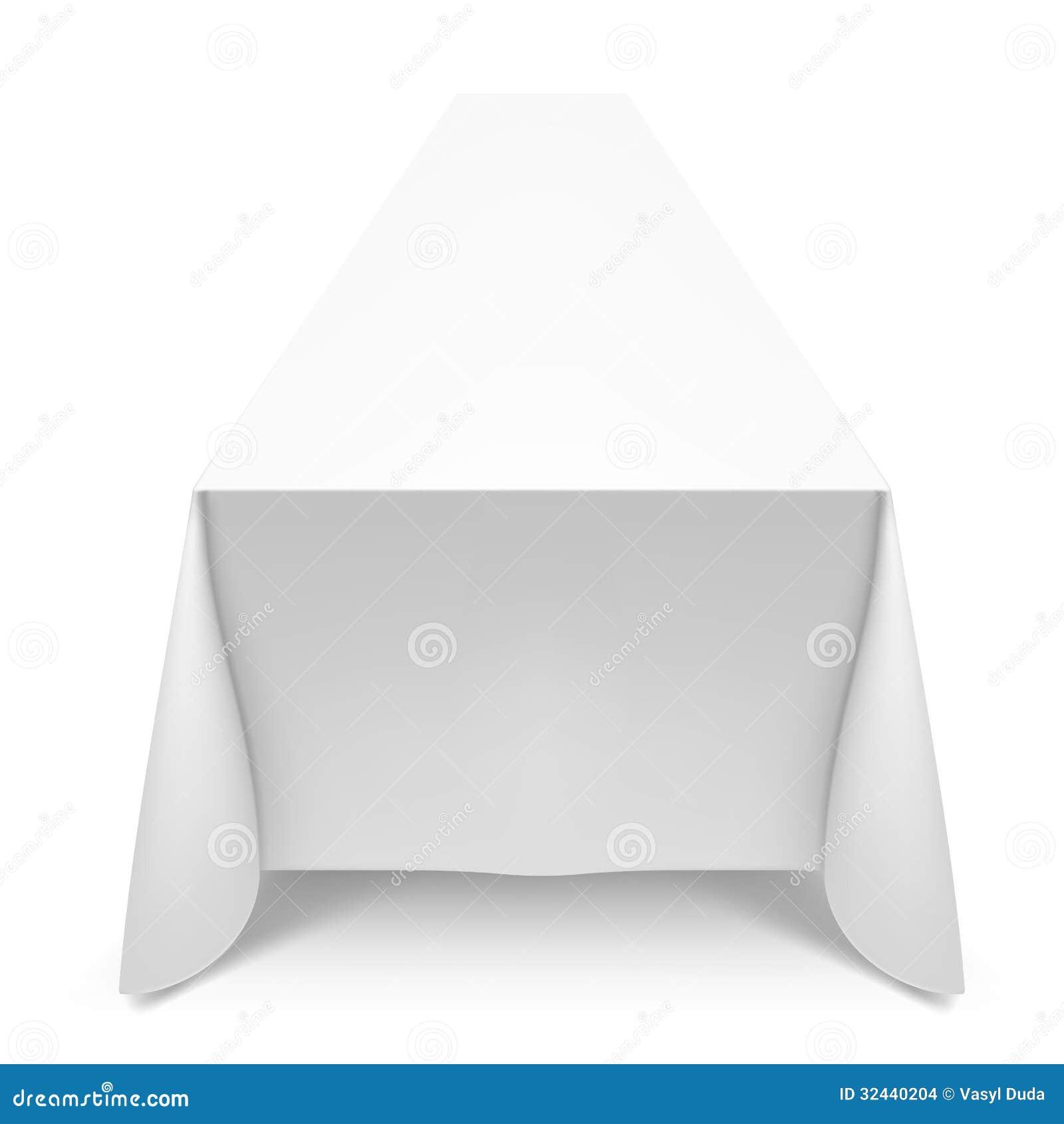 wei e tischdecke stockbilder bild 32440204. Black Bedroom Furniture Sets. Home Design Ideas