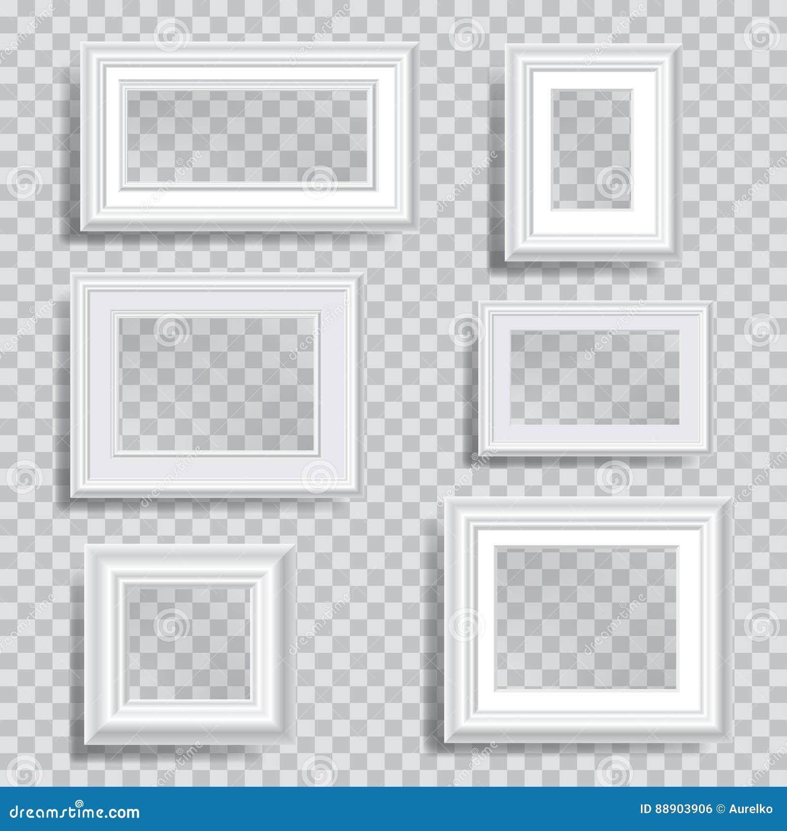Weiße transparente Rahmen vektor abbildung. Illustration von rand ...