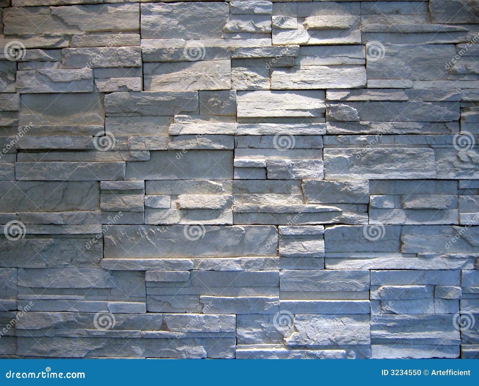 Weiße Und Graue Steinwand Stockfoto - Bild: 3234550