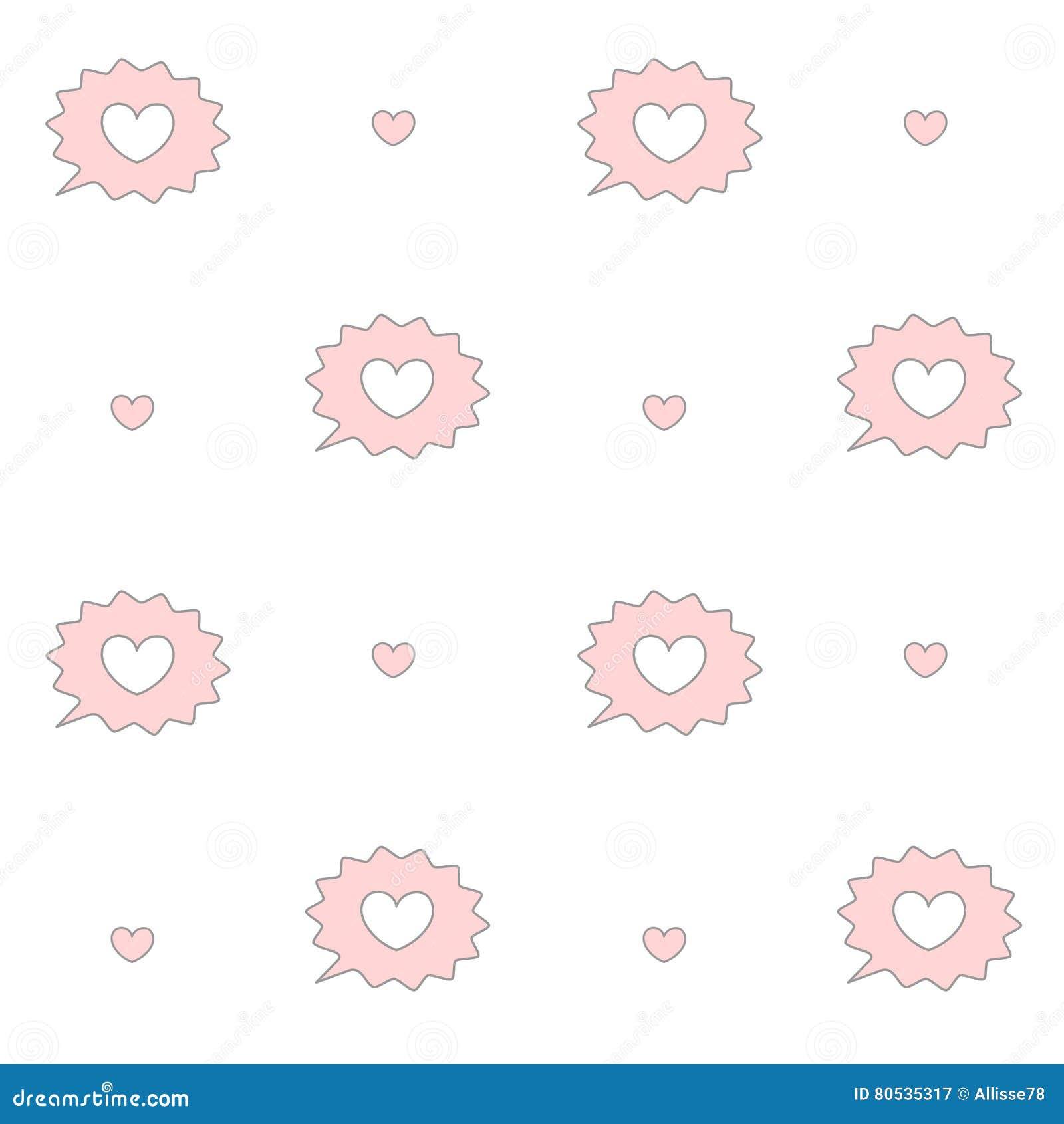 weie und rosa rede der netten karikatur sprudelt mit muster hintergrundillustration des herzens nahtloser - Hochzeitsrede Muster