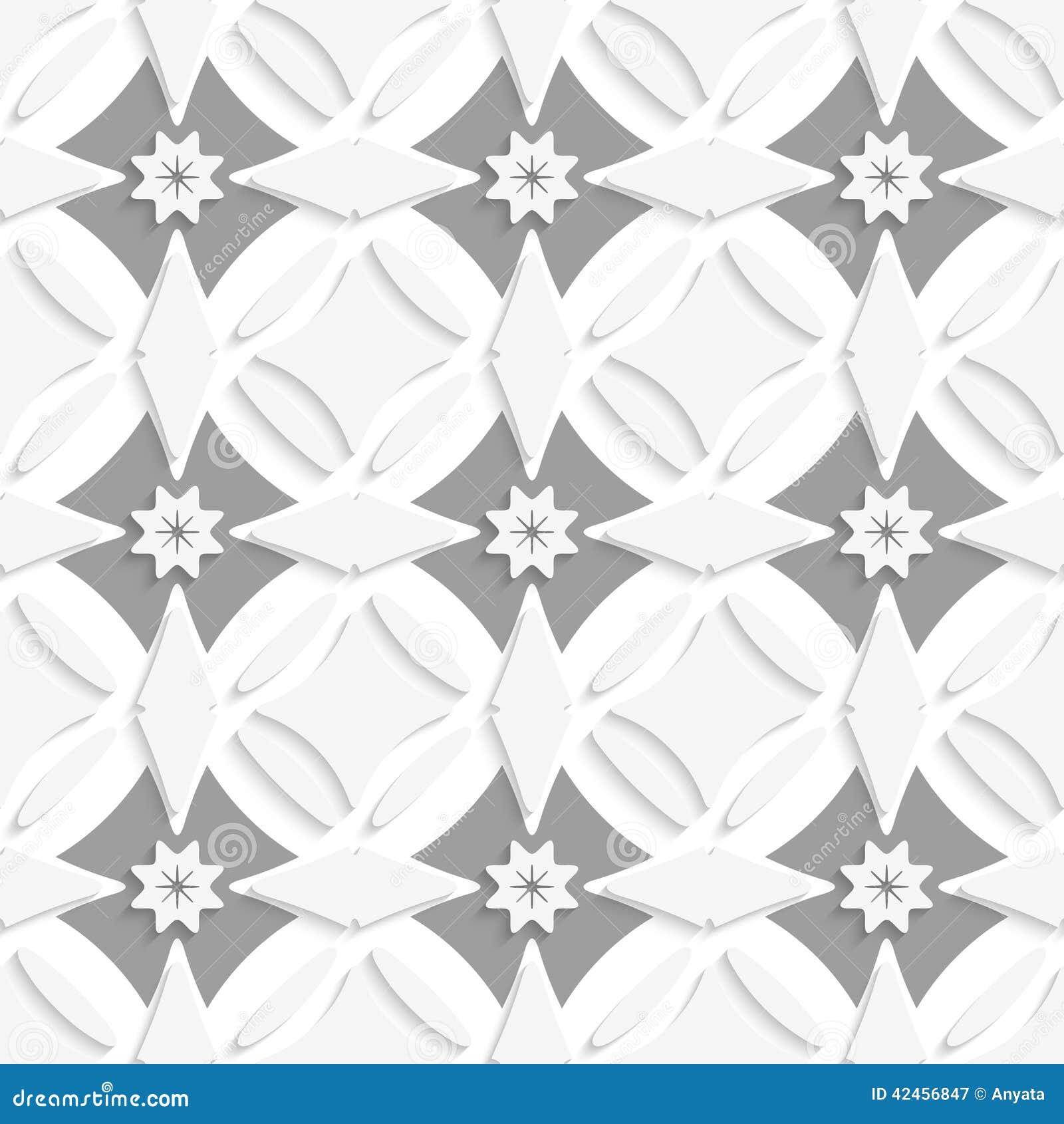 Weiße Verzierung und graue Kreuze