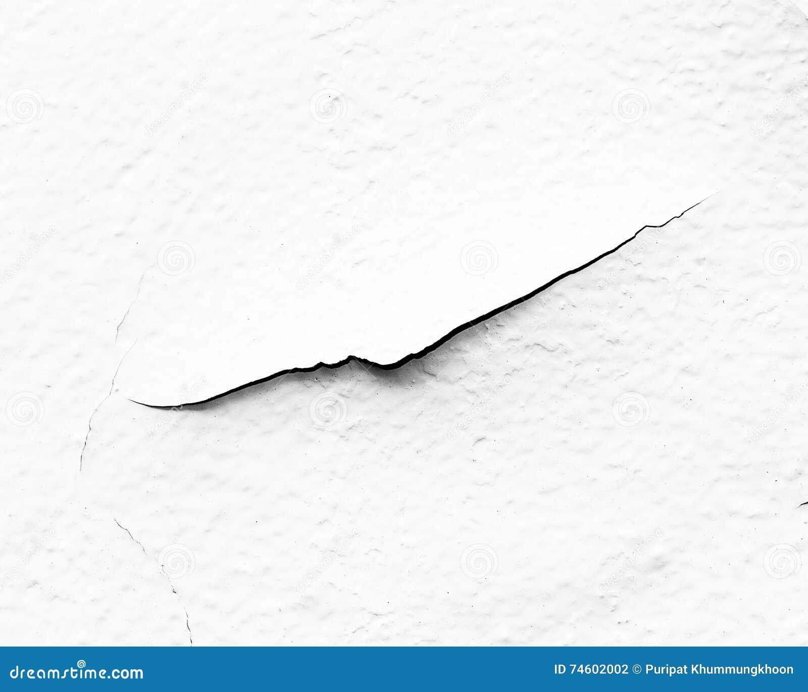weiße wand, weiße wand mit sprüngen für hintergrund stockfoto - bild