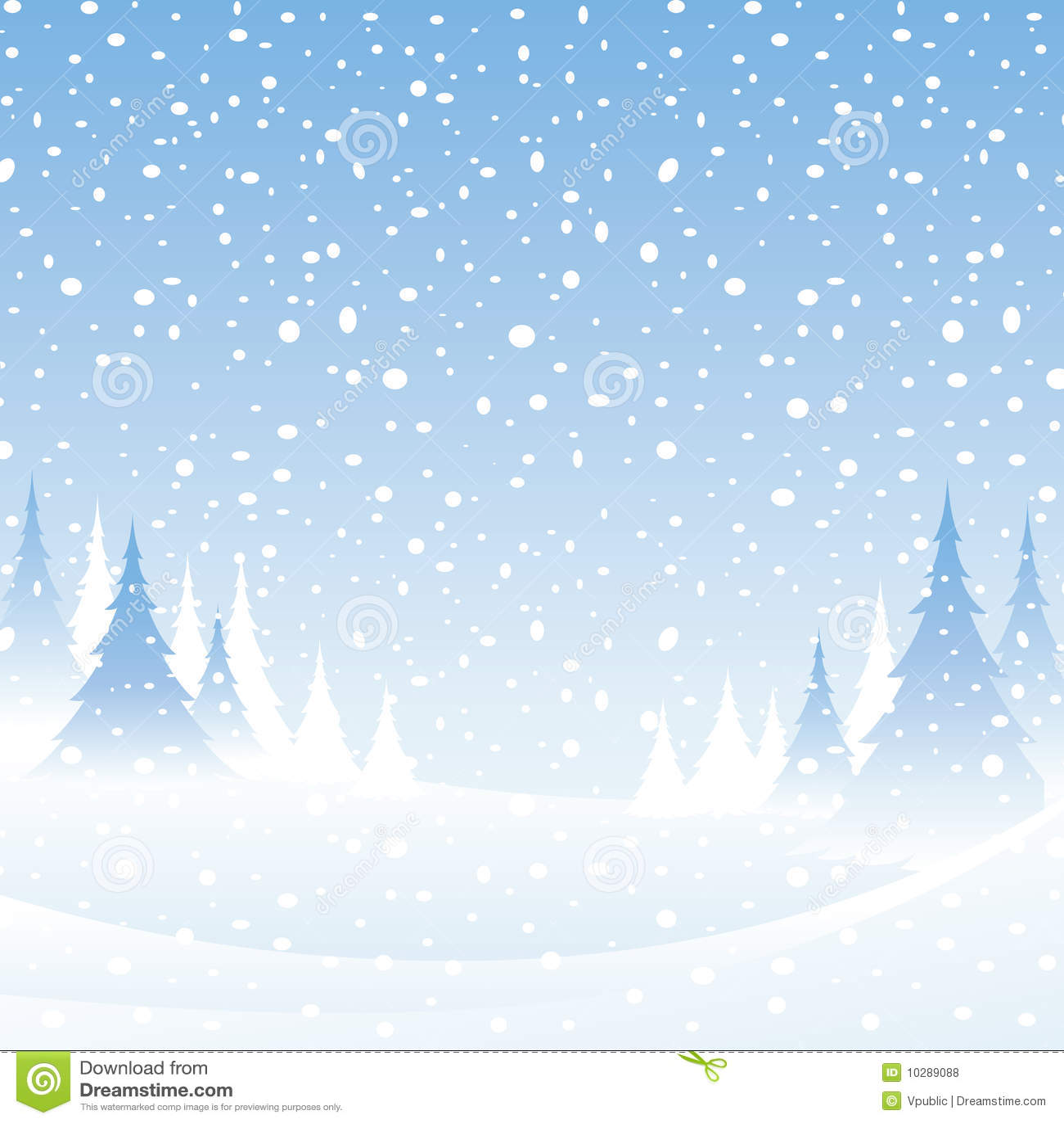 Weiße Winterszene