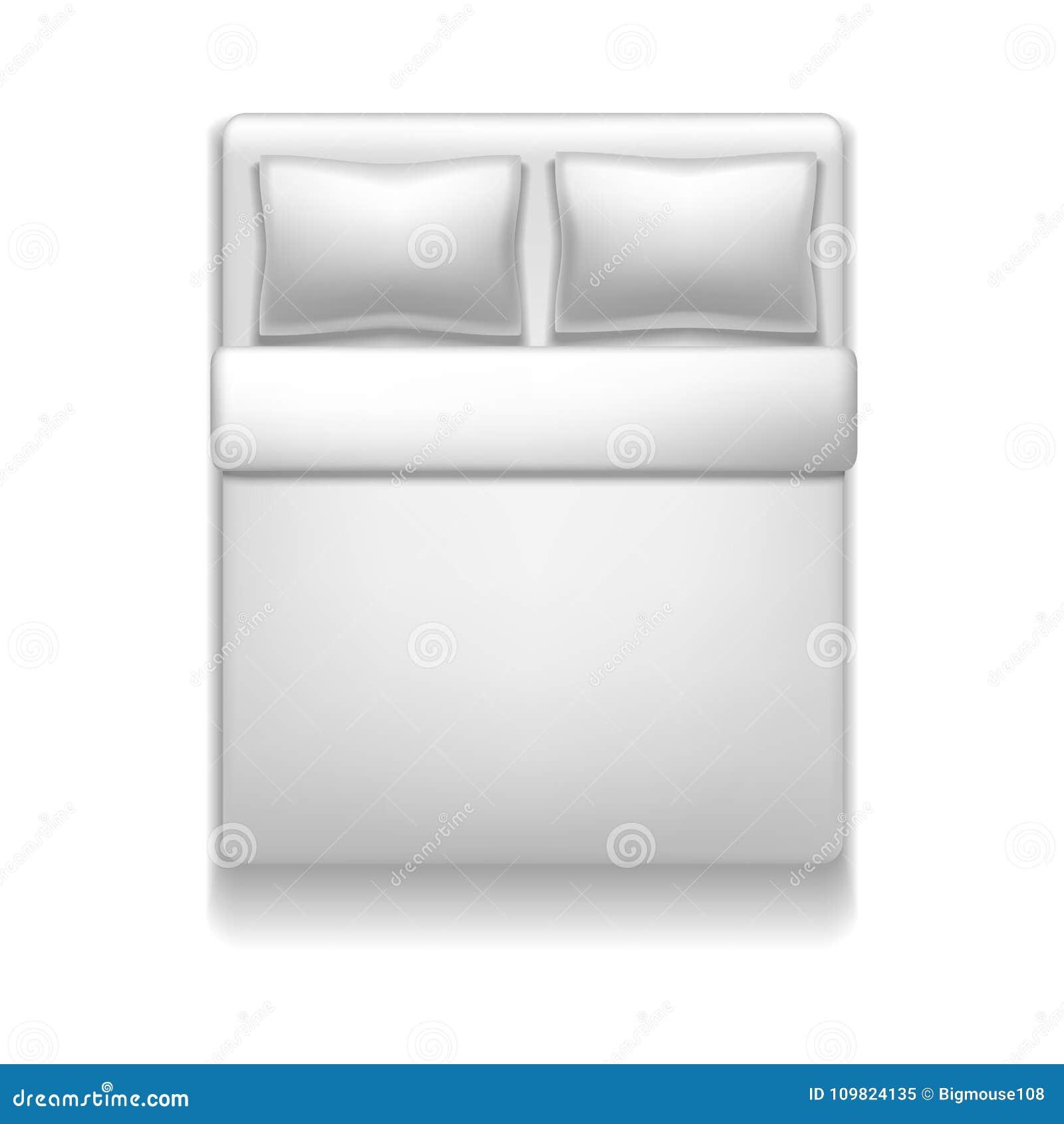 Weisser Bett Spott Des Realistischen Ausfuhrlichen Freien Raumes Der