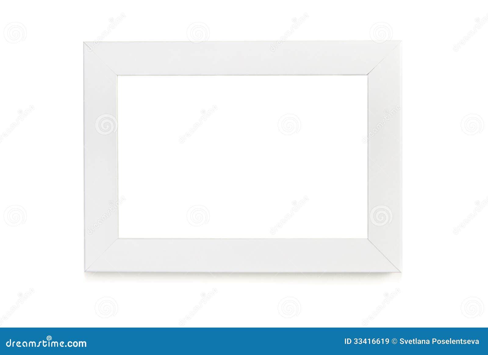 Weißer Bilderrahmen über Weißem Hintergrund Stockbild - Bild von ...
