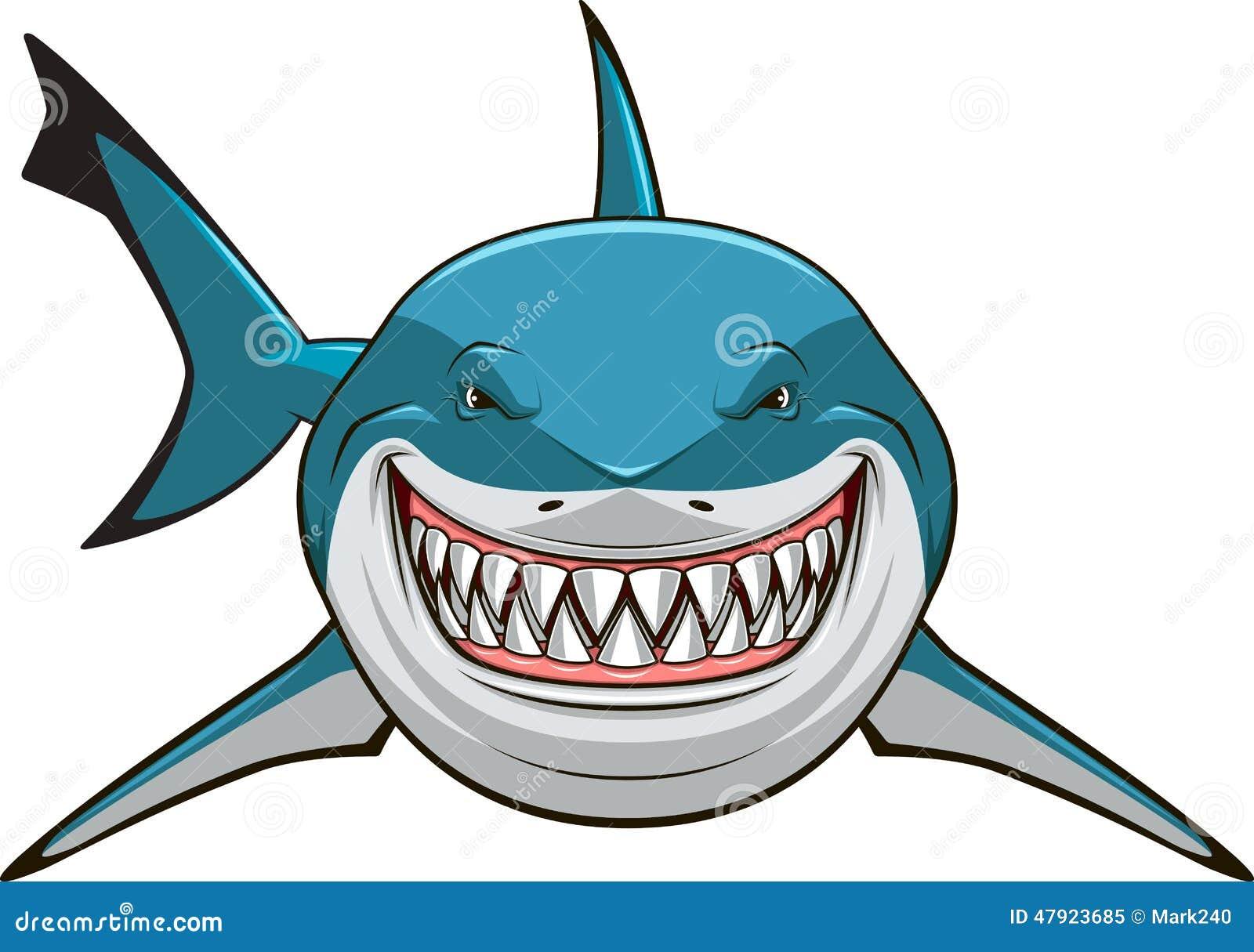 shark teeth template - wei er haifisch vektor abbildung bild 47923685