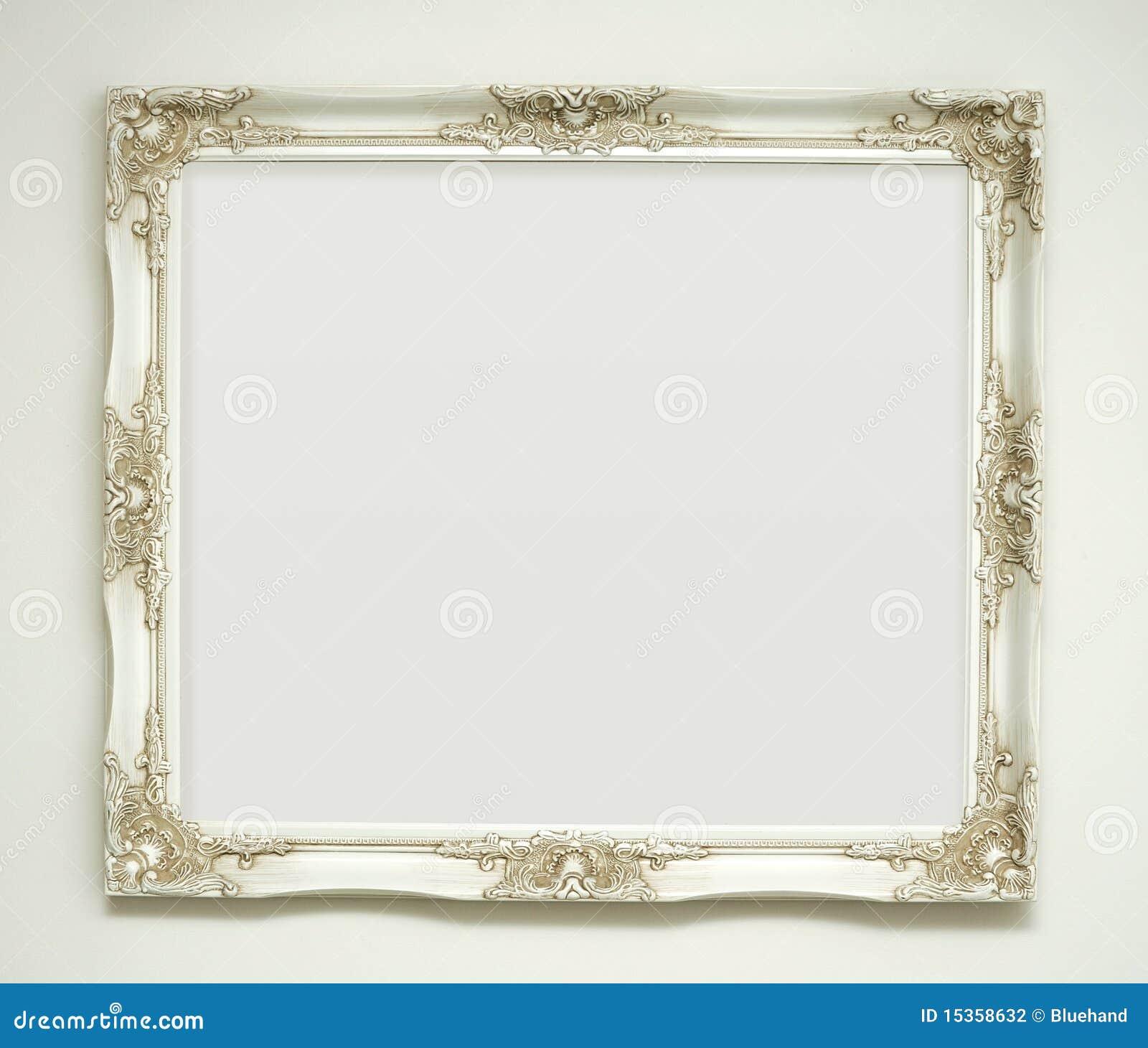 Weißer Klassischer Bilderrahmen Stockfoto - Bild von leer ...