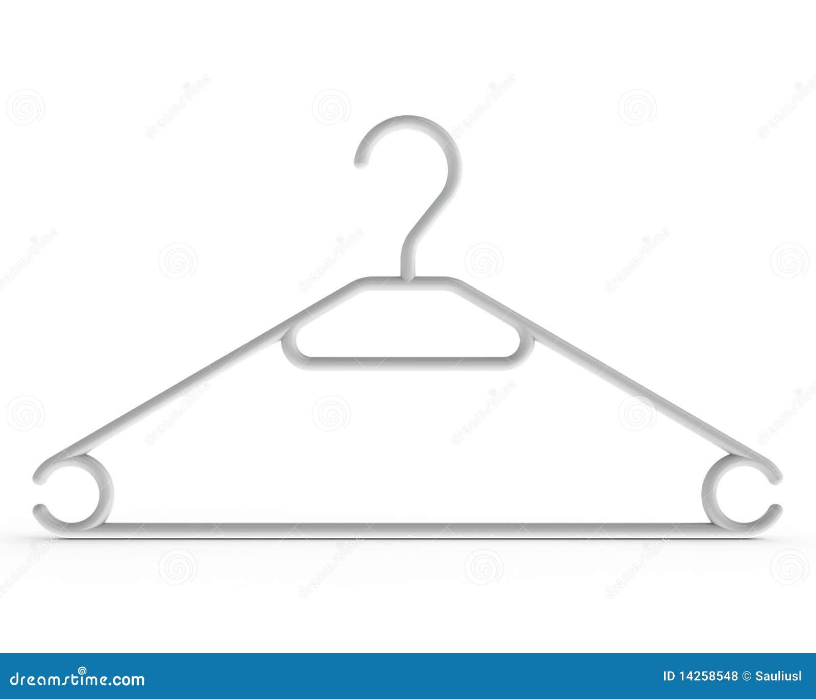 Weißer Kleiderbügel stock abbildung. Illustration von einzeln ...
