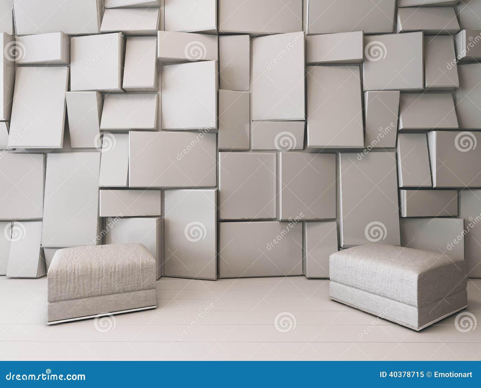 wei er leerer raum mit rechteckigen fliesen stockfoto bild 40378715. Black Bedroom Furniture Sets. Home Design Ideas