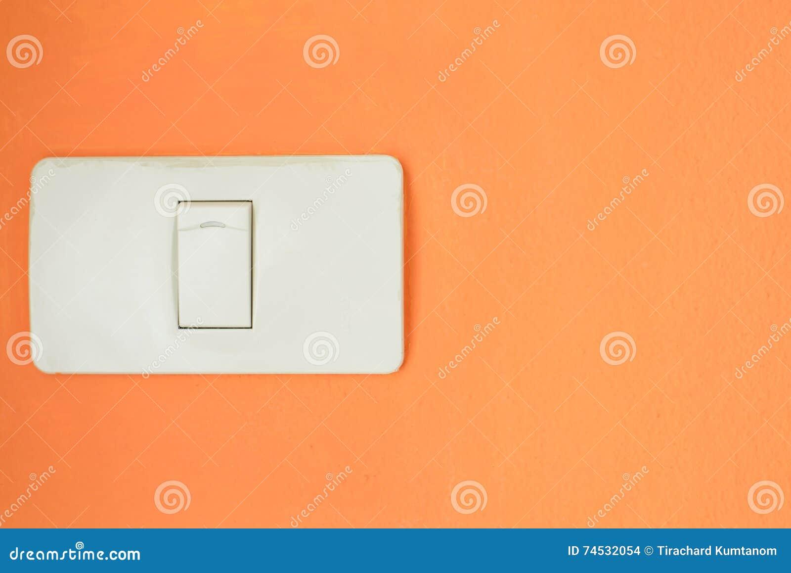 Weißer Lichtschalter, Schalten Ein Oder Stellen Die Lichter Auf Der ...