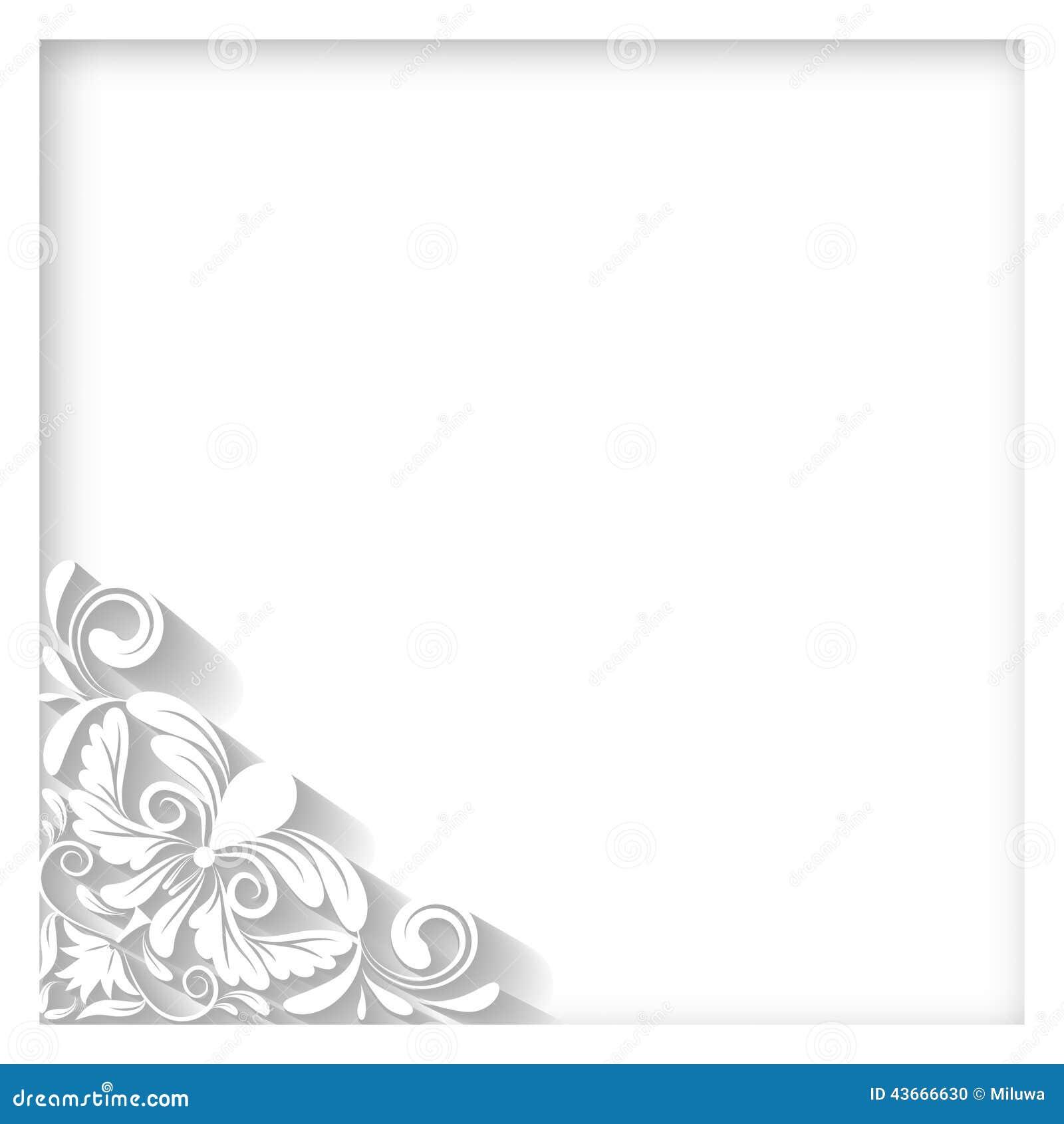 Weißer Rahmen vektor abbildung. Illustration von pappe - 43666630