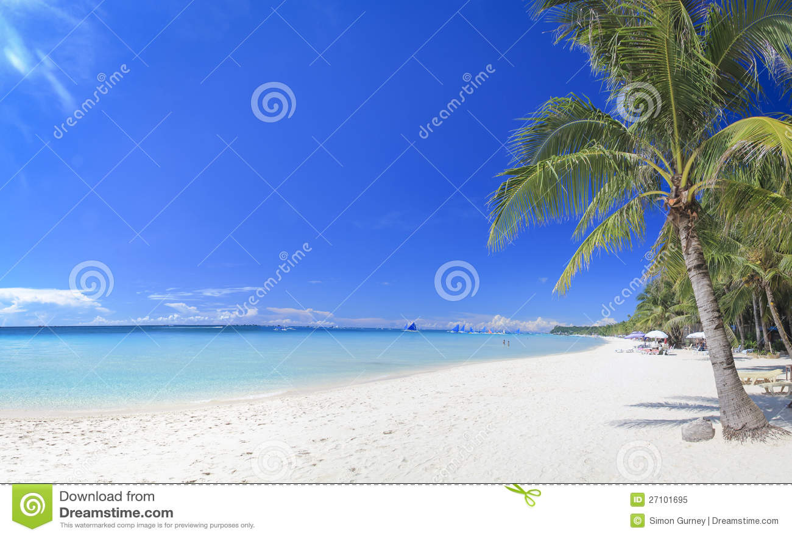 Weißer Sandstrand Philippinen der Boracay-Insel
