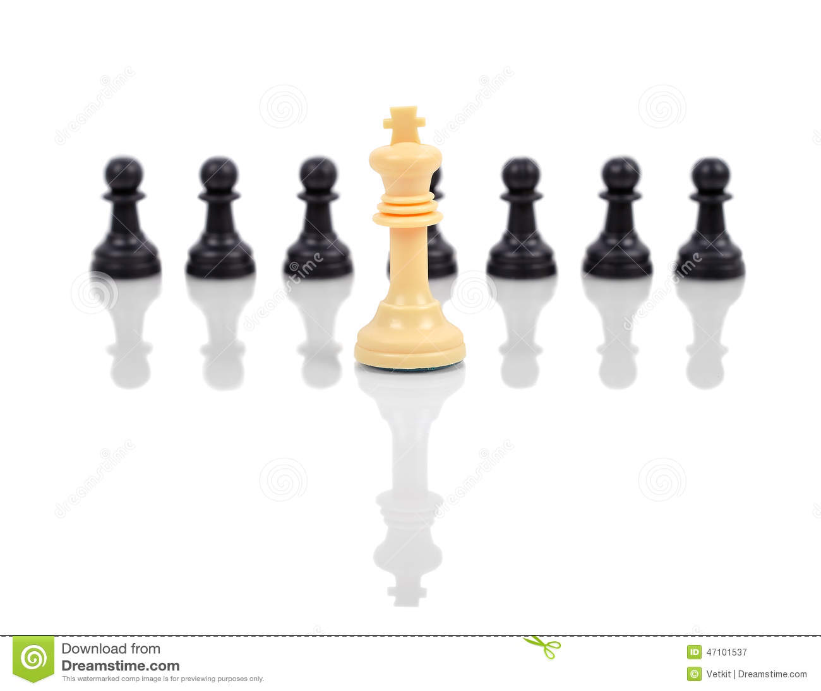 Weißer Schachkönig