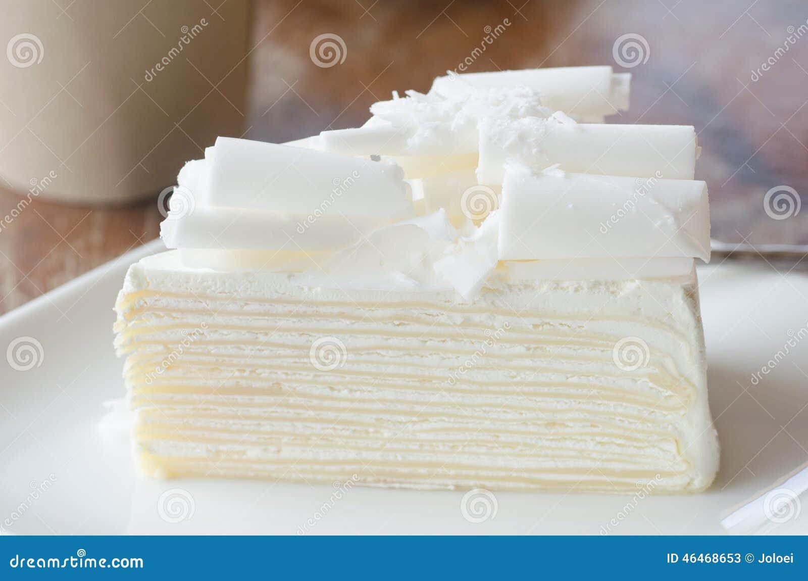 Weisser Schokoladenkuchen Stockbild Bild Von Feinschmecker 46468653
