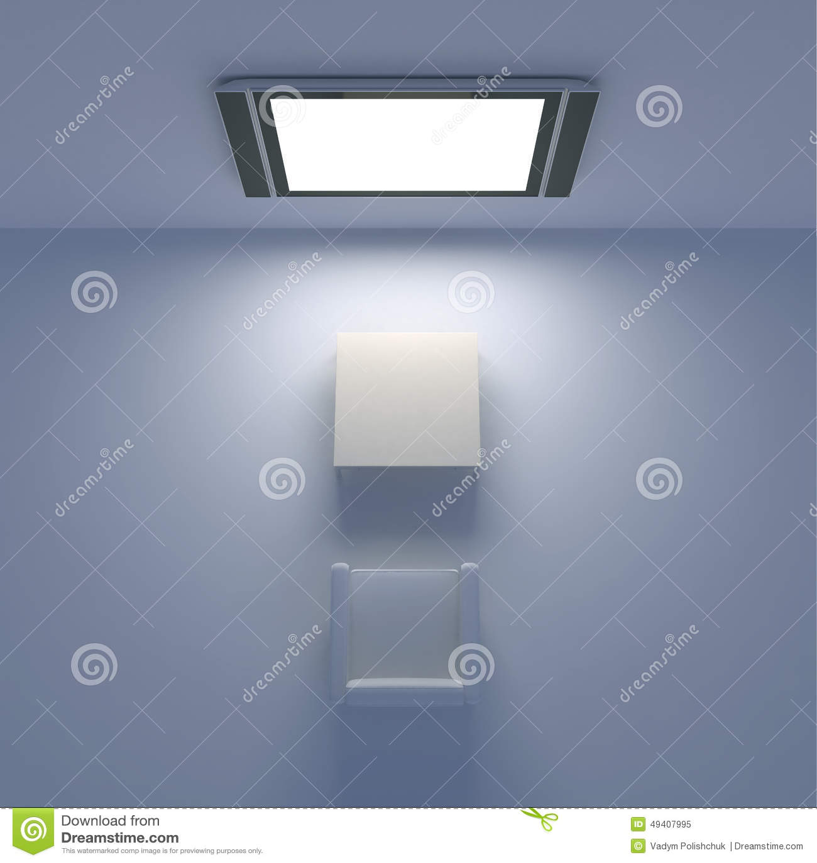 Download Weißer Stuhl Mit Fernsehen Auf Der Wand Stock Abbildung - Illustration von möbel, bild: 49407995