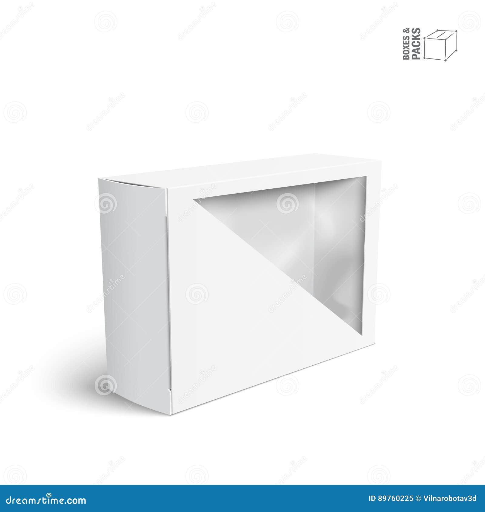 Anspruchsvoll Mypaketkasten Foto Von Pattern Weißer Vektor-produkt-paket-kasten Mit Fenster Vektor Abbildung