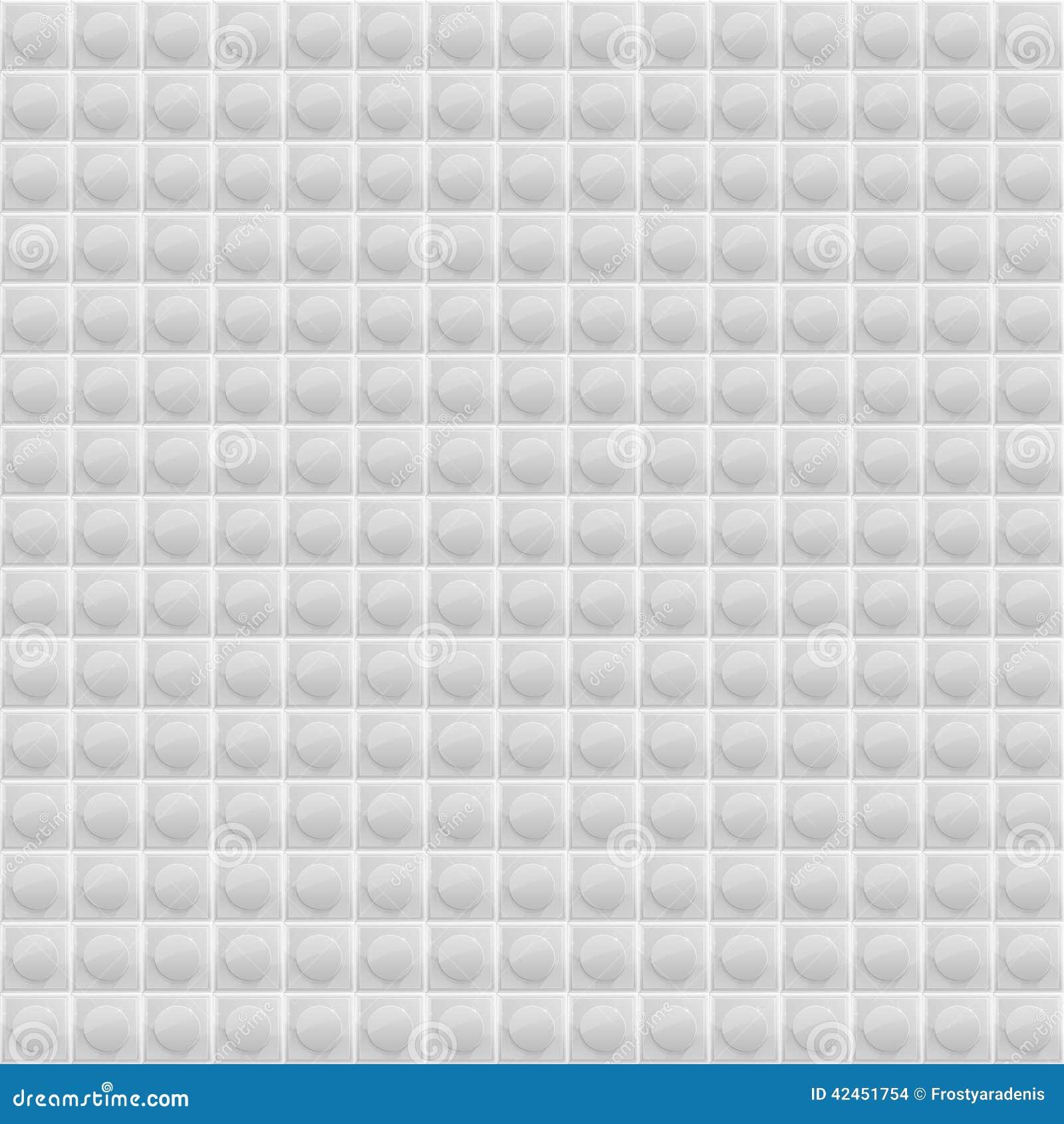Weißes Muster-vierflächiges Mosaik