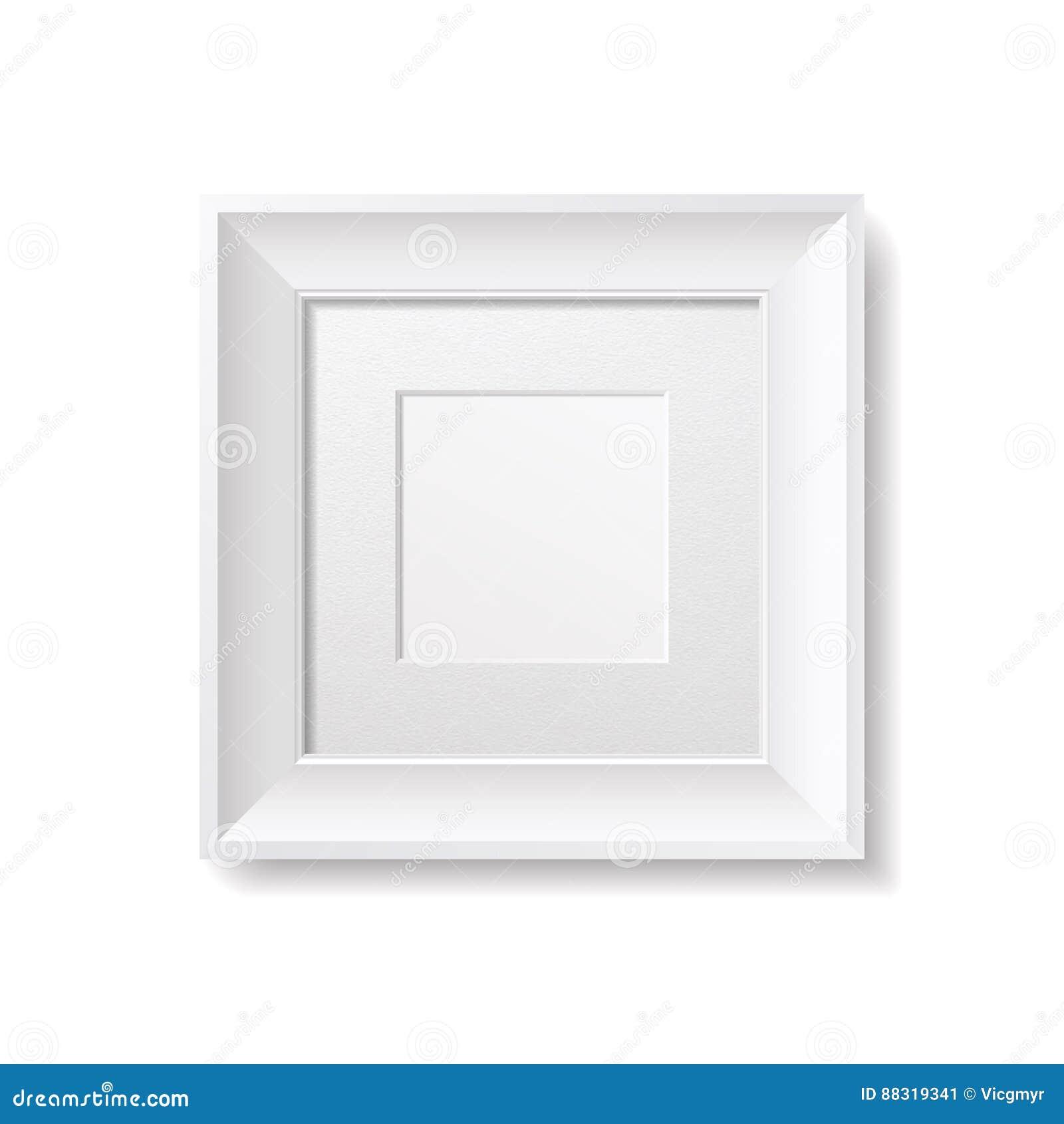 Weißes Quadrat-Rahmen Mit Pappe Passepartout Vektor Abbildung ...