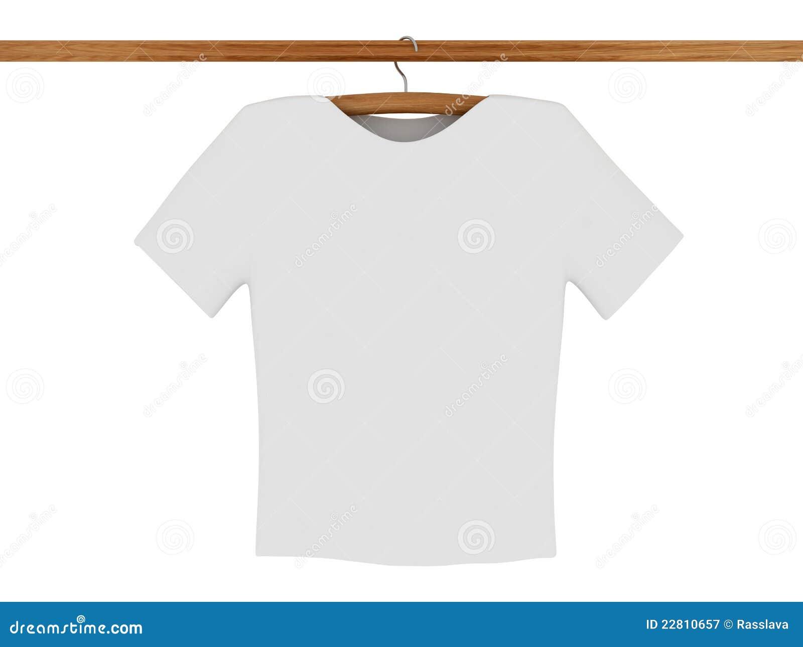Weißes T-Shirt Auf Kleiderbügel Stock Abbildung - Illustration von ...