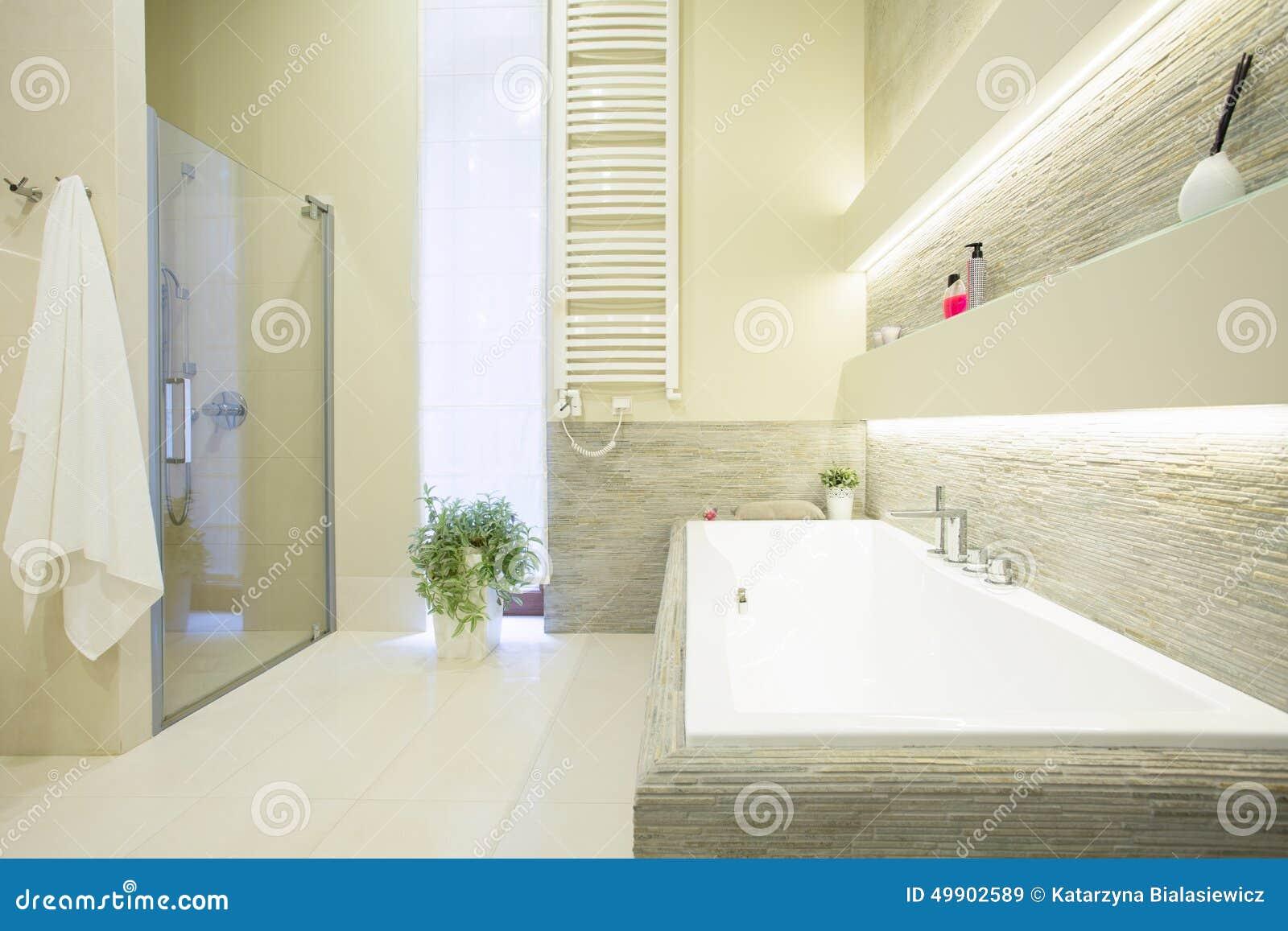 Weißes teures Badezimmer stockbild. Bild von teures, badezimmer