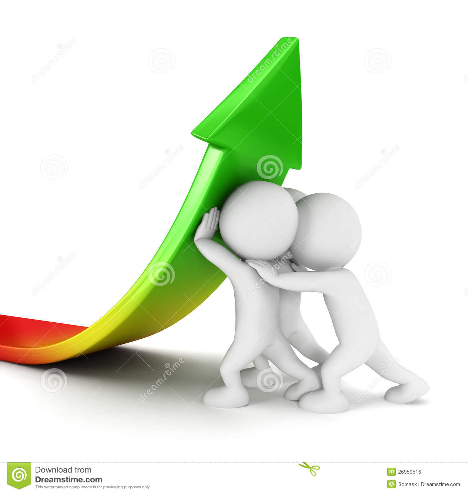 Weißes Verkaufswachstum der Leute 3d