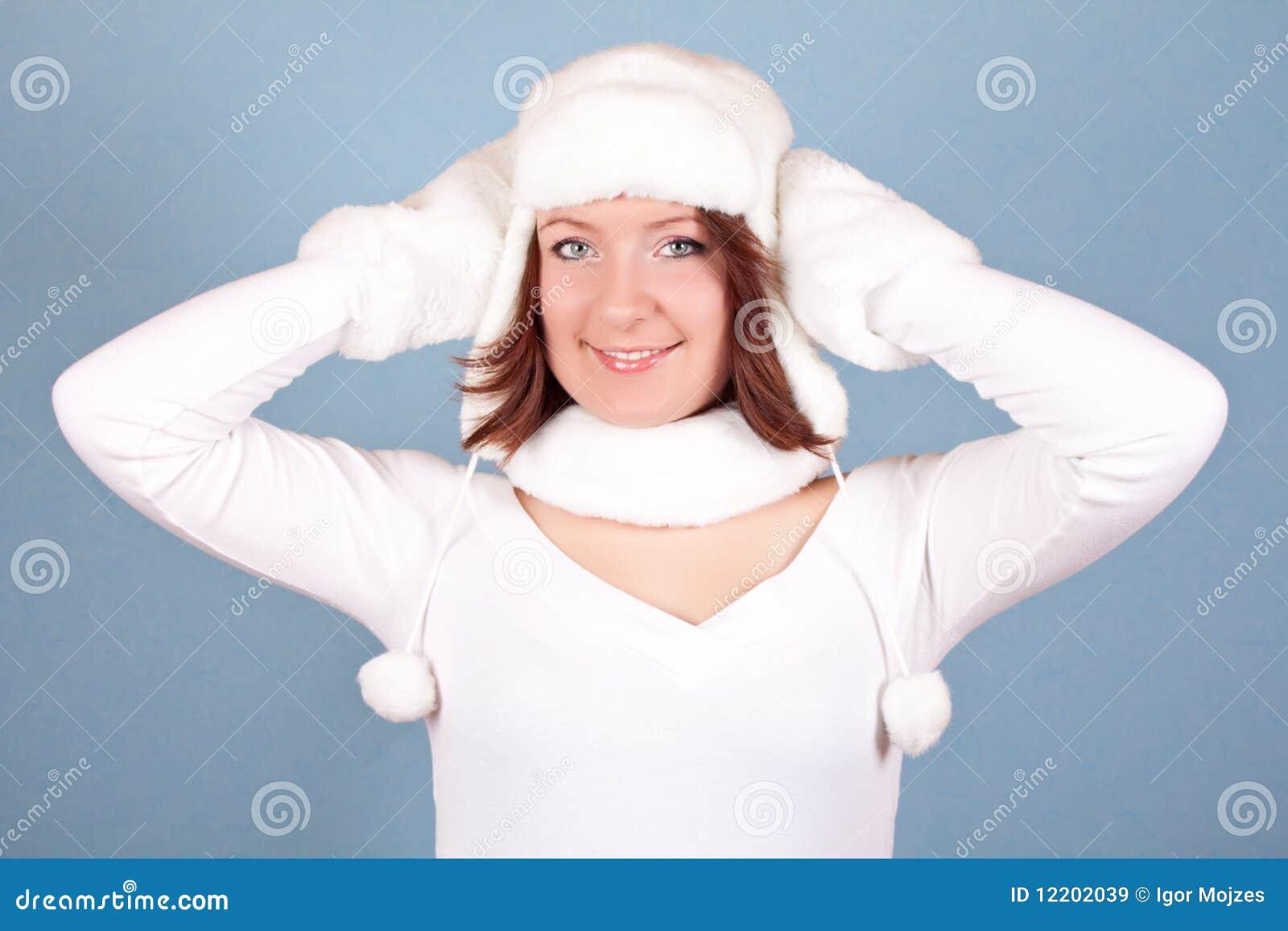 Weißes Weihnachtsmädchen