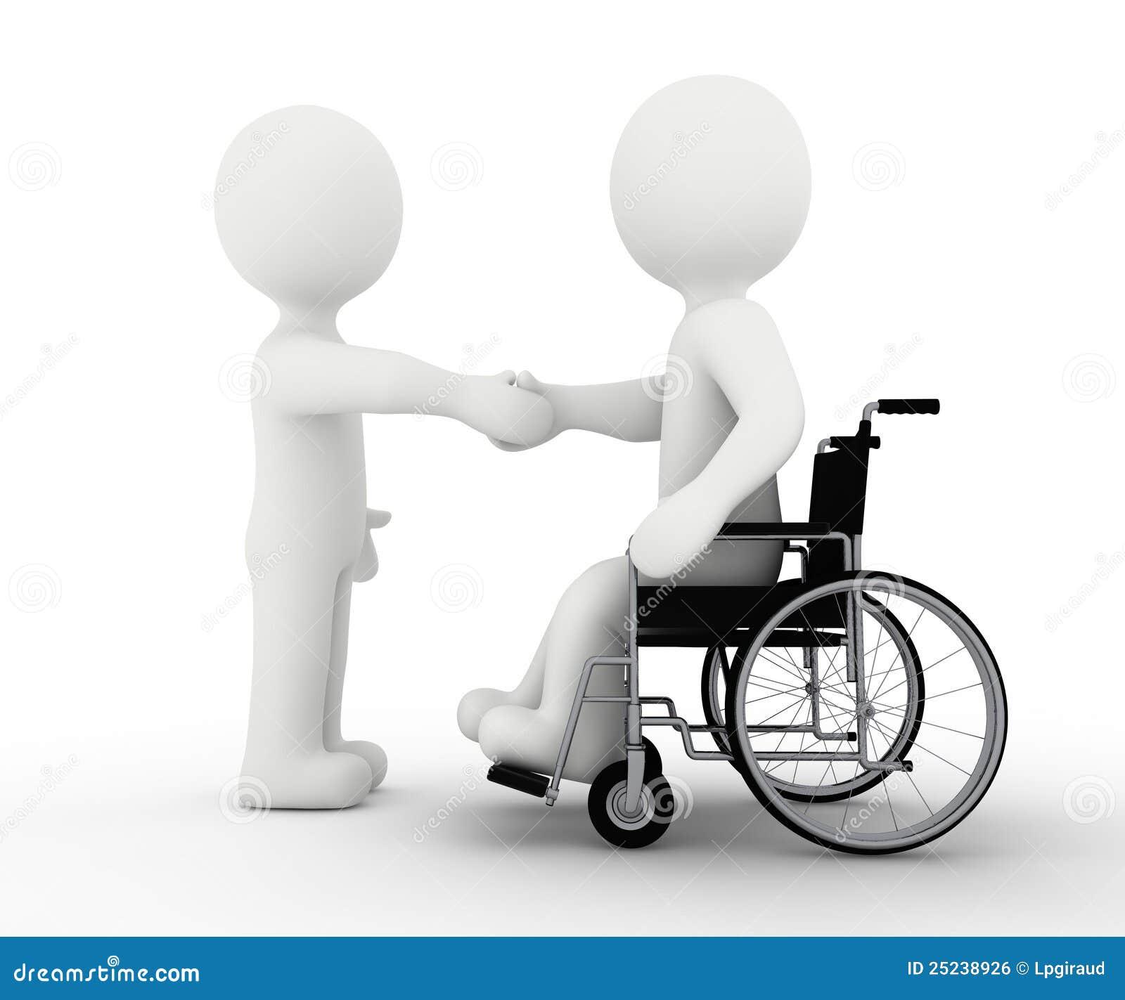 Weißes Zeichen und Handikap