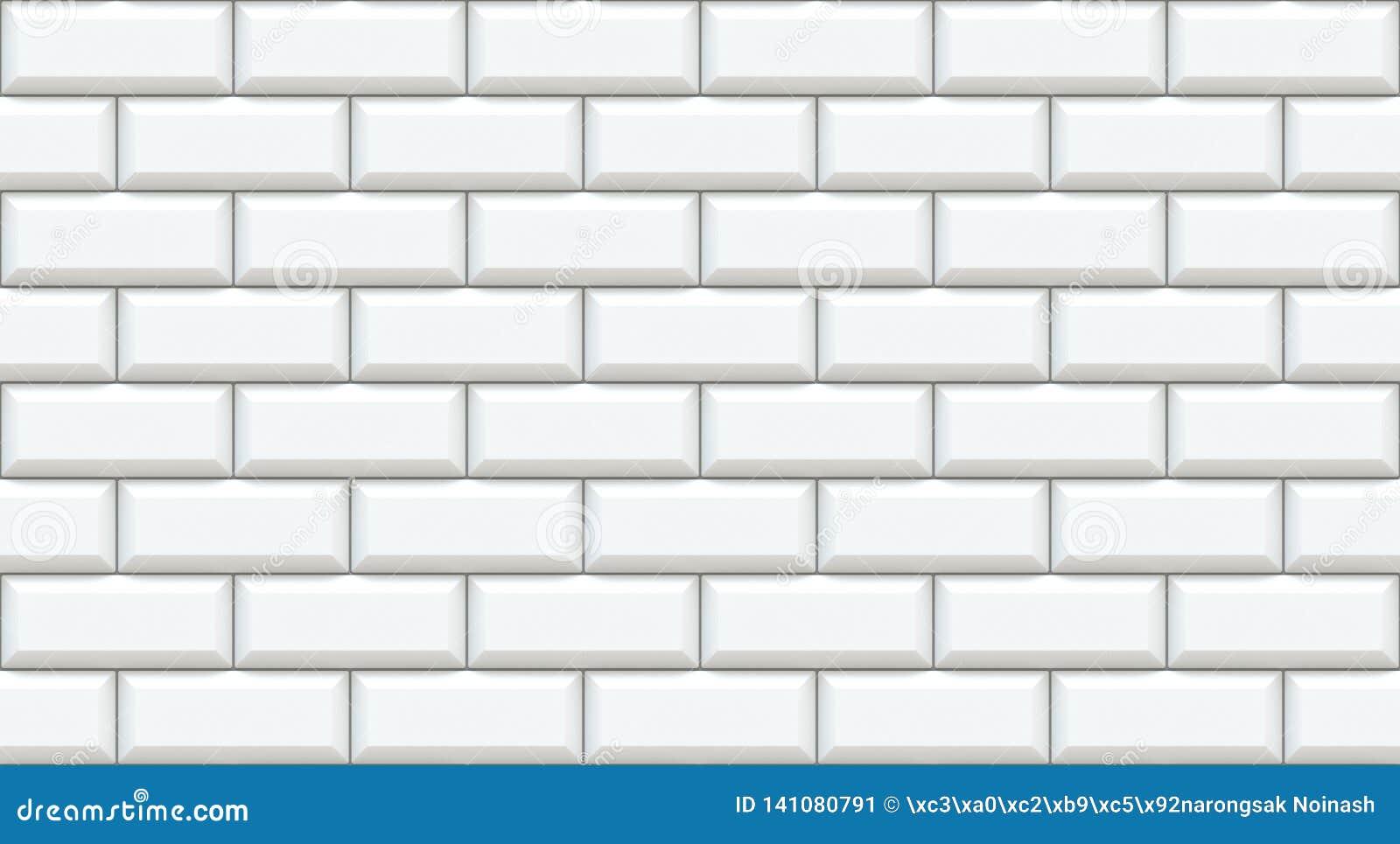 Weiße Backsteinmauerrechtecke mit abgeschrägtem Rand Leerer Hintergrund Weinlese legen Steine in den Weg Raumdesigninnenraum Hint
