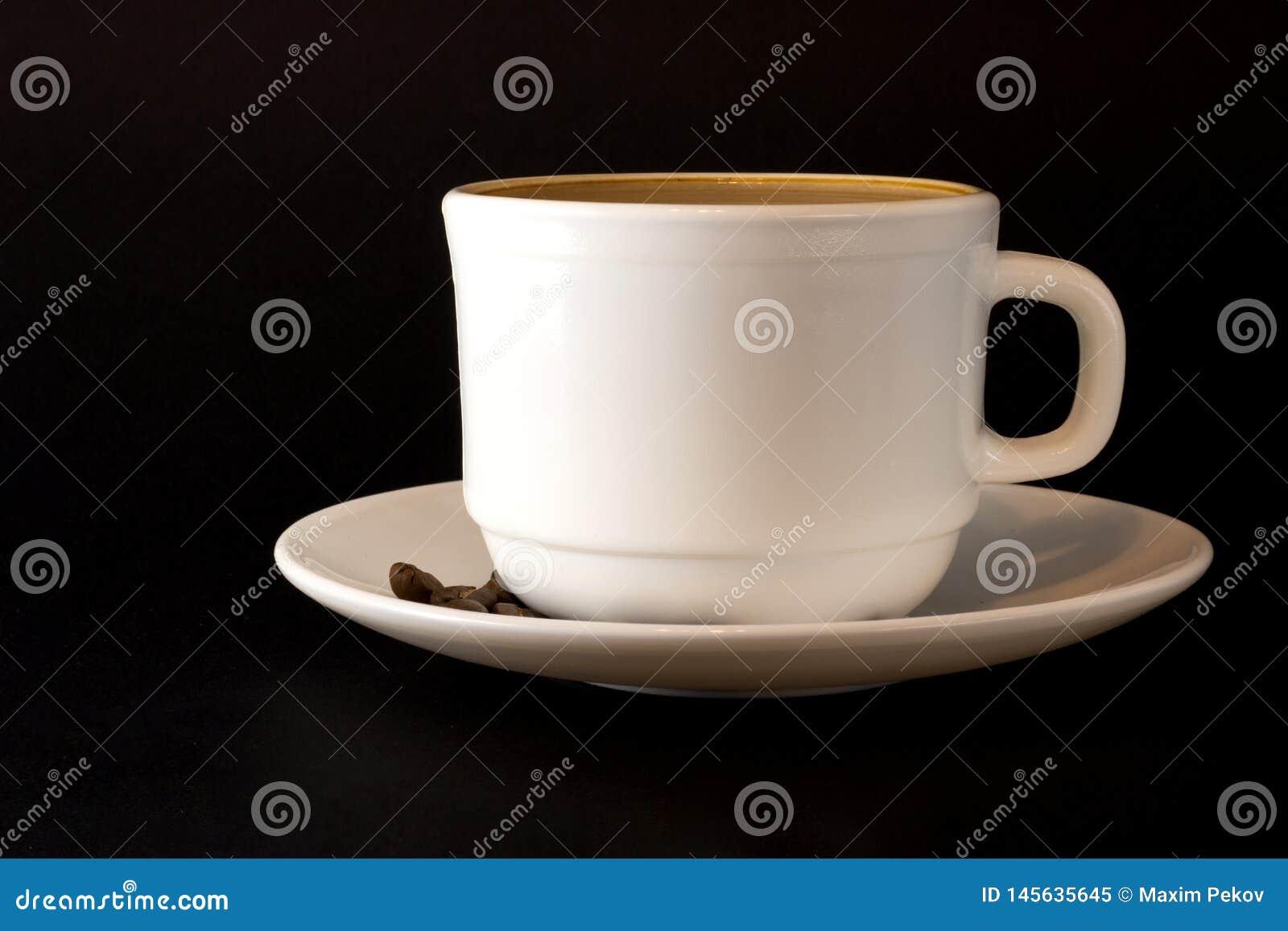 Wei?es Cup hei?er Kaffee