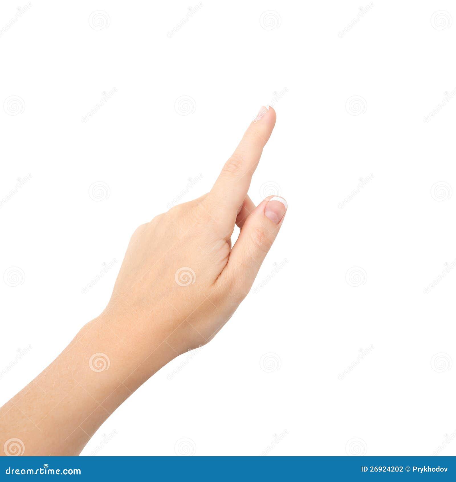 Weibliche Hand auf getrennt