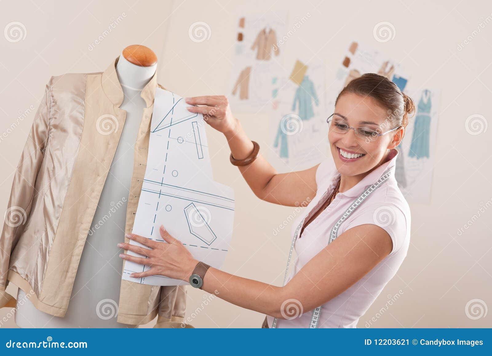 Weibliche Modedesignerfunktion