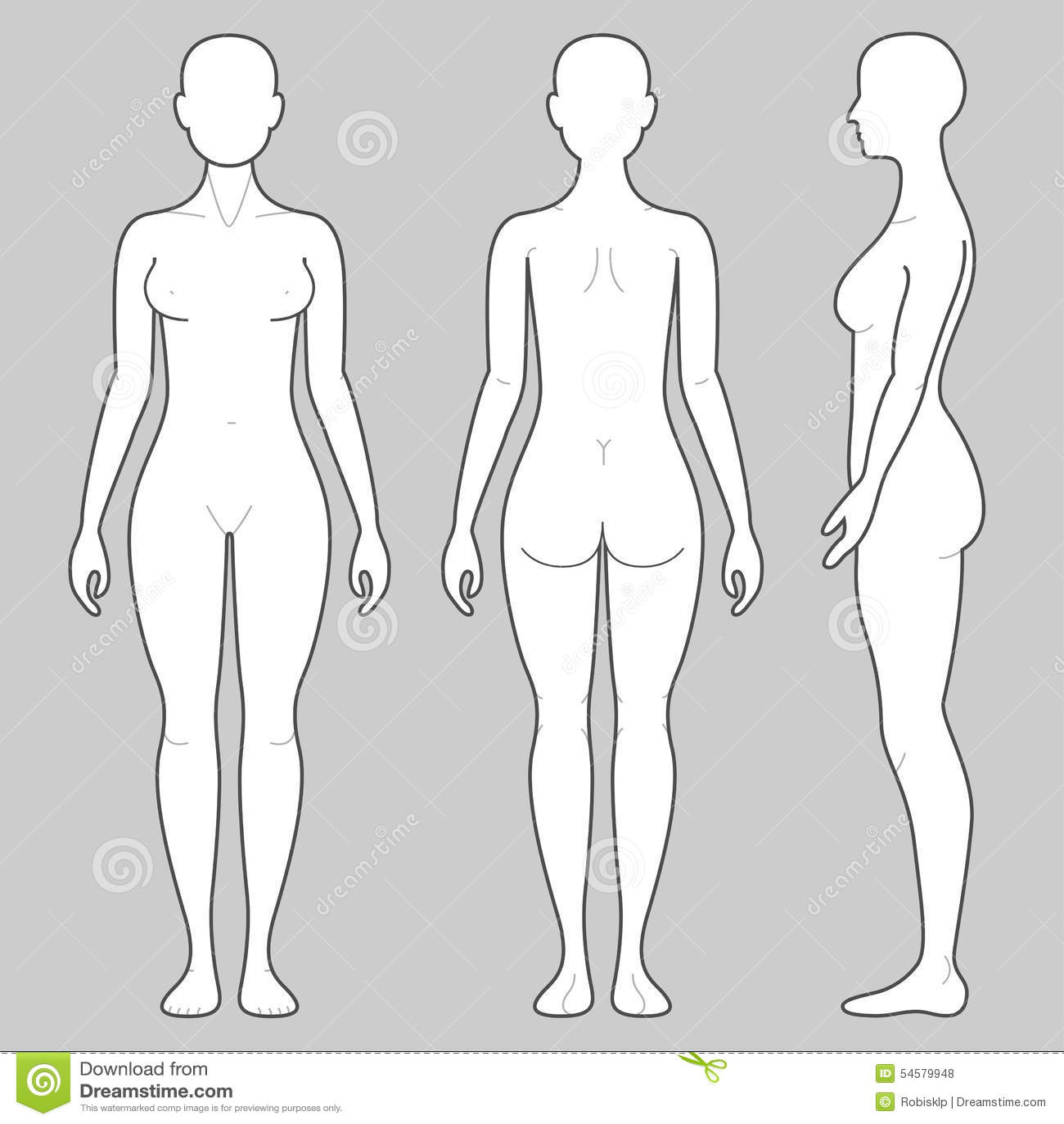 Fantastisch Weibliche Körperzeichnungsvorlage Bilder - Beispiel ...