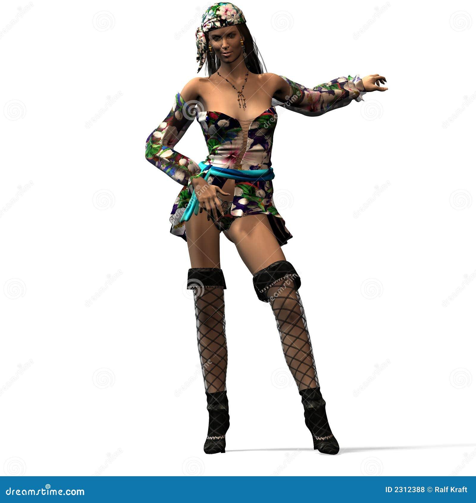 Weiblicher Pirat