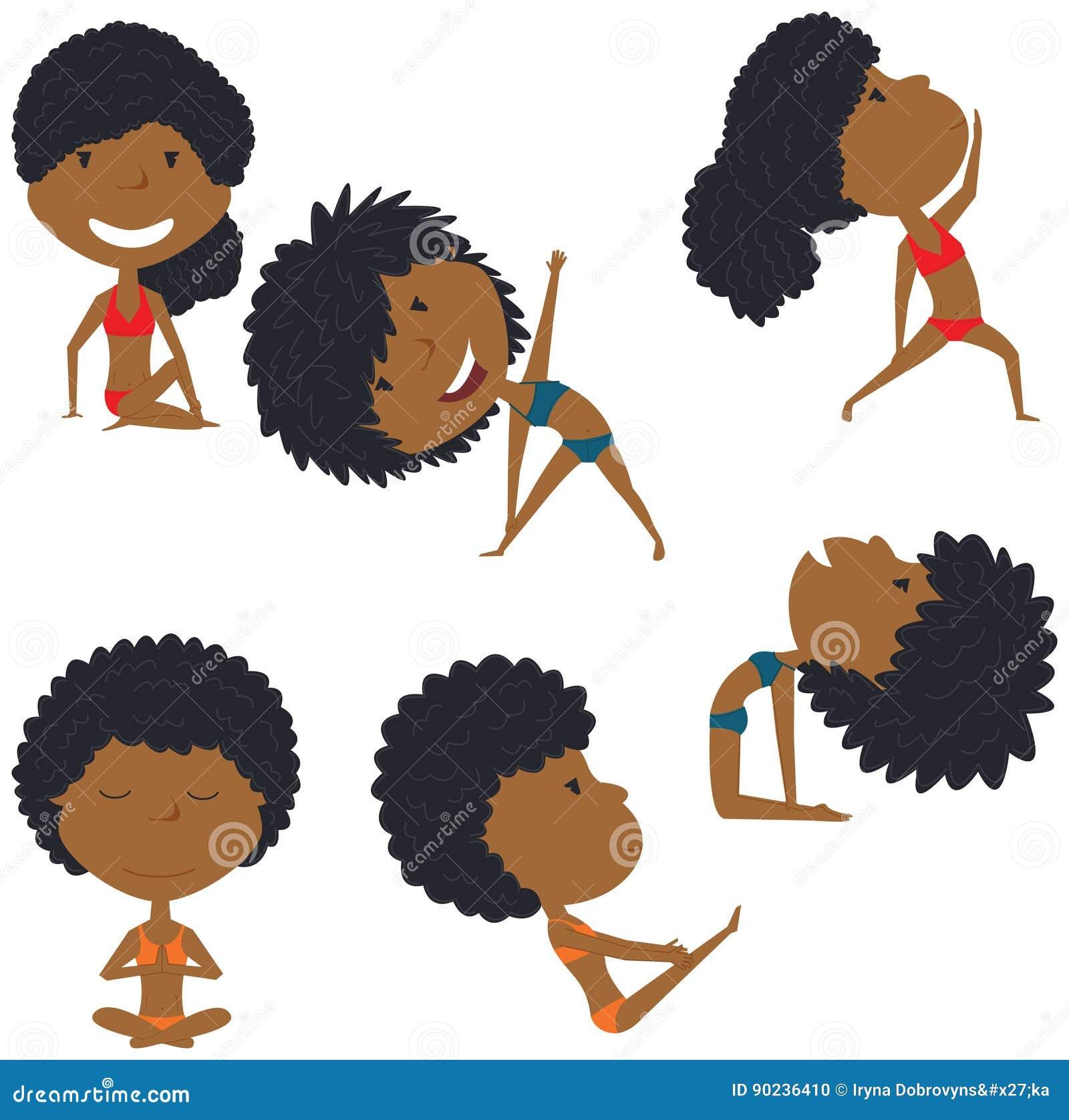 Weiblicher Yogasatz