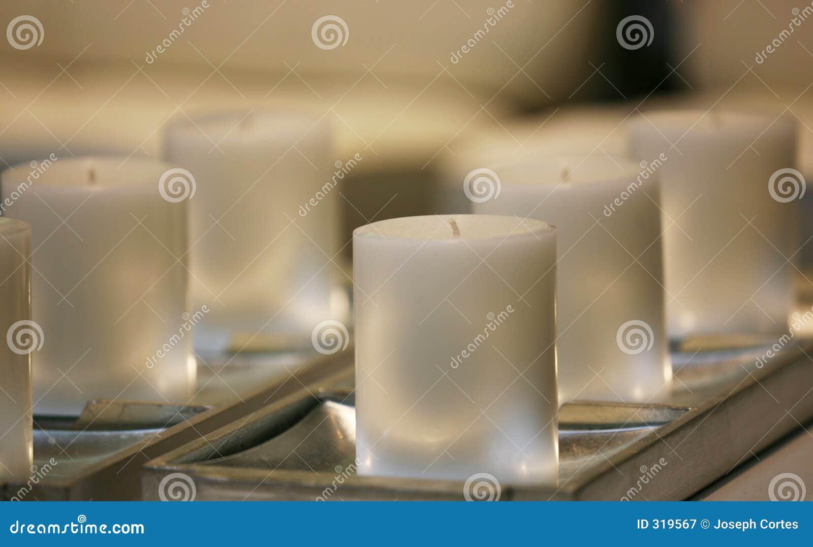 Weiche weiße Kerzen