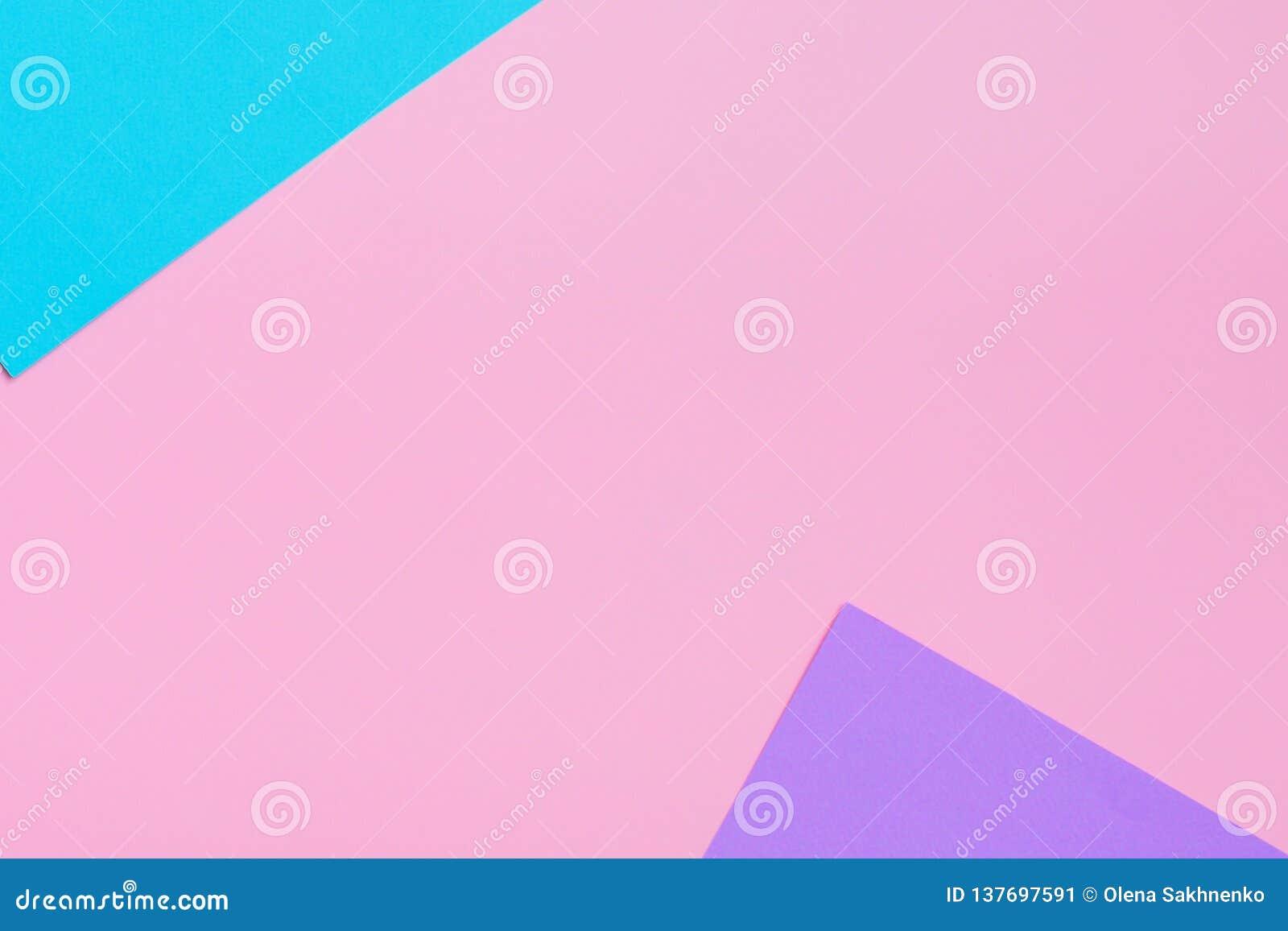 Weicher Rosa-, Blauer und Purpurroterhintergrund Bunte Beschaffenheit Flache Lage Minimales Konzept Kreatives Konzept