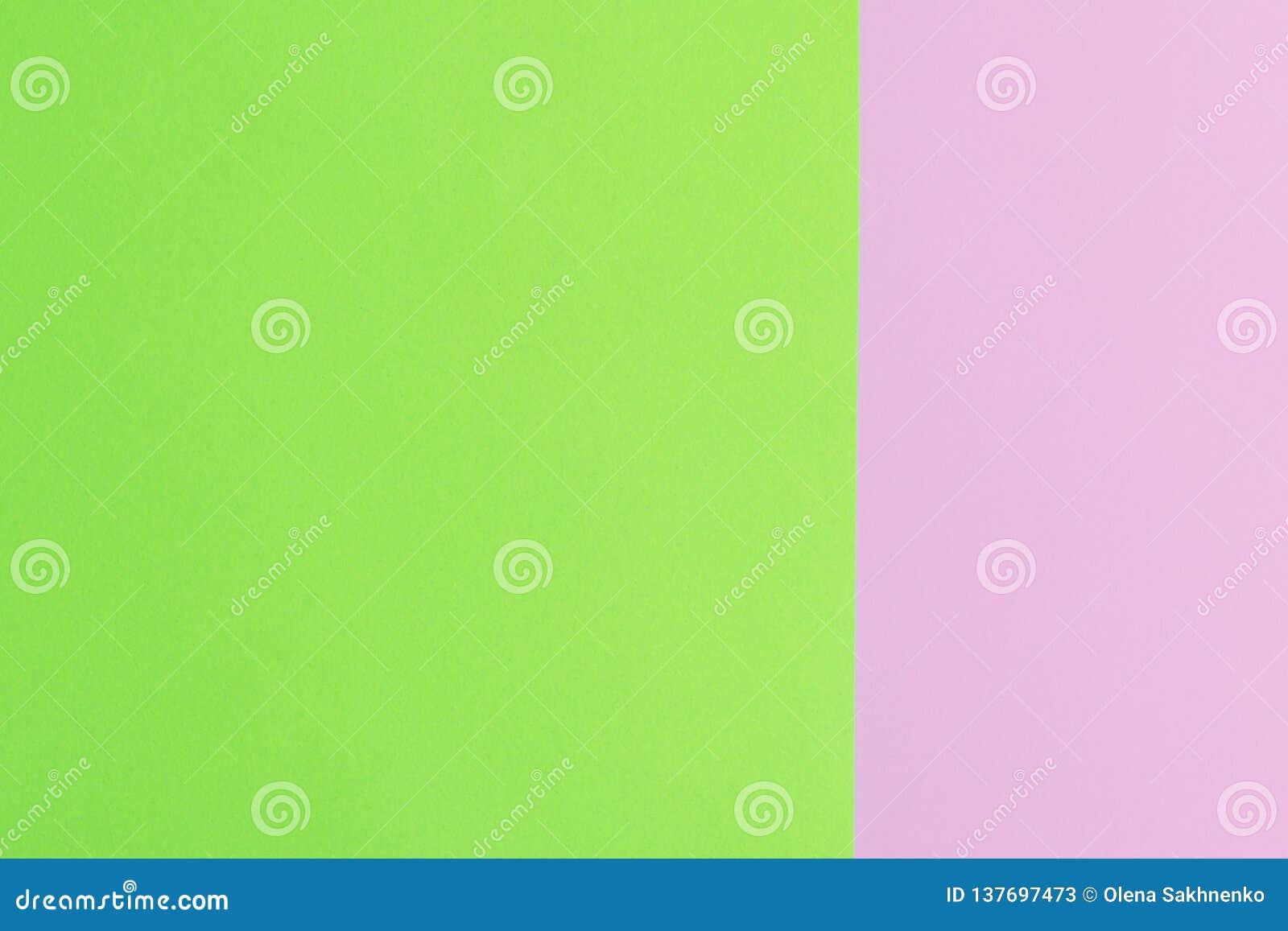 Weiches Rosa und Grünbuch als Beschaffenheitshintergrund Minimales Konzept Kreatives Konzept Pop-Art Helle süße Mode Art