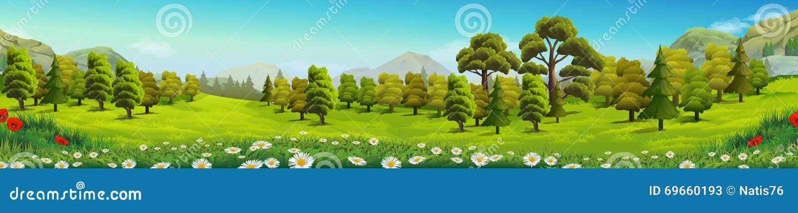 Weide en bosaardlandschap
