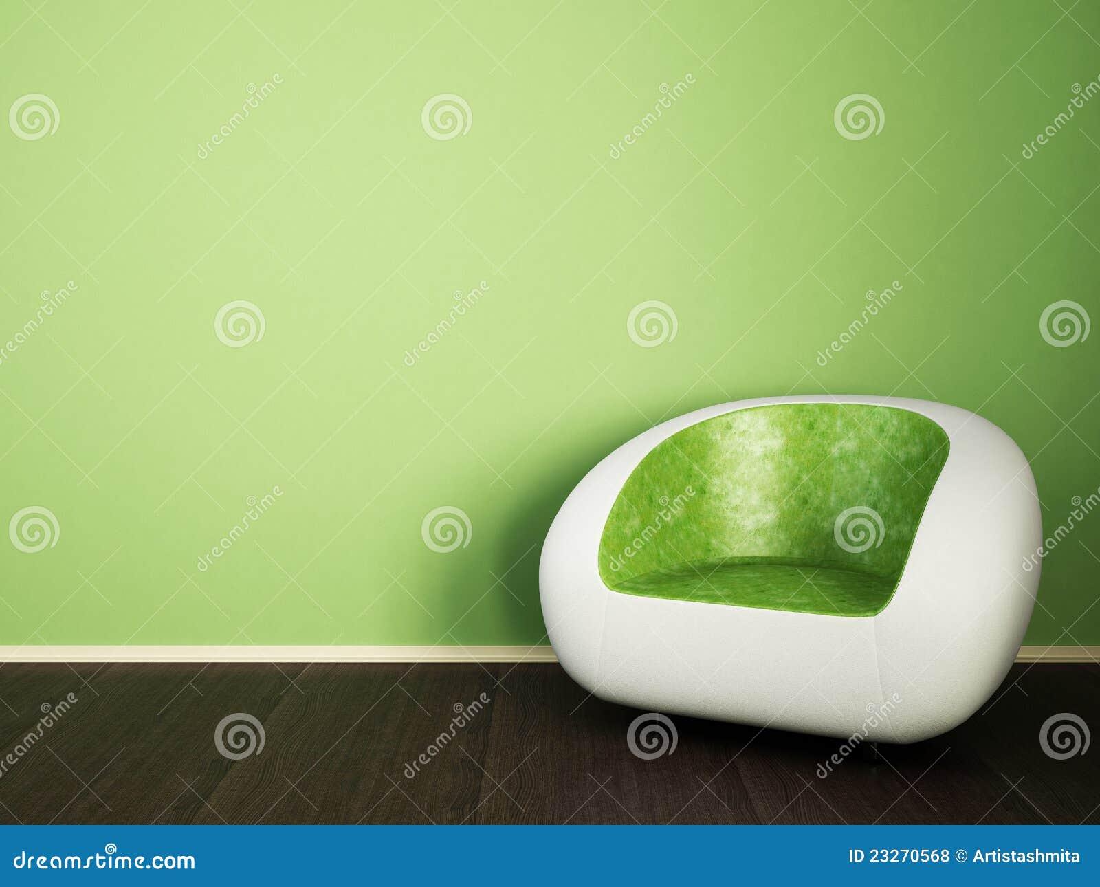 Rote couch auf grüner wand lizenzfreies stockbild   bild: 18227196