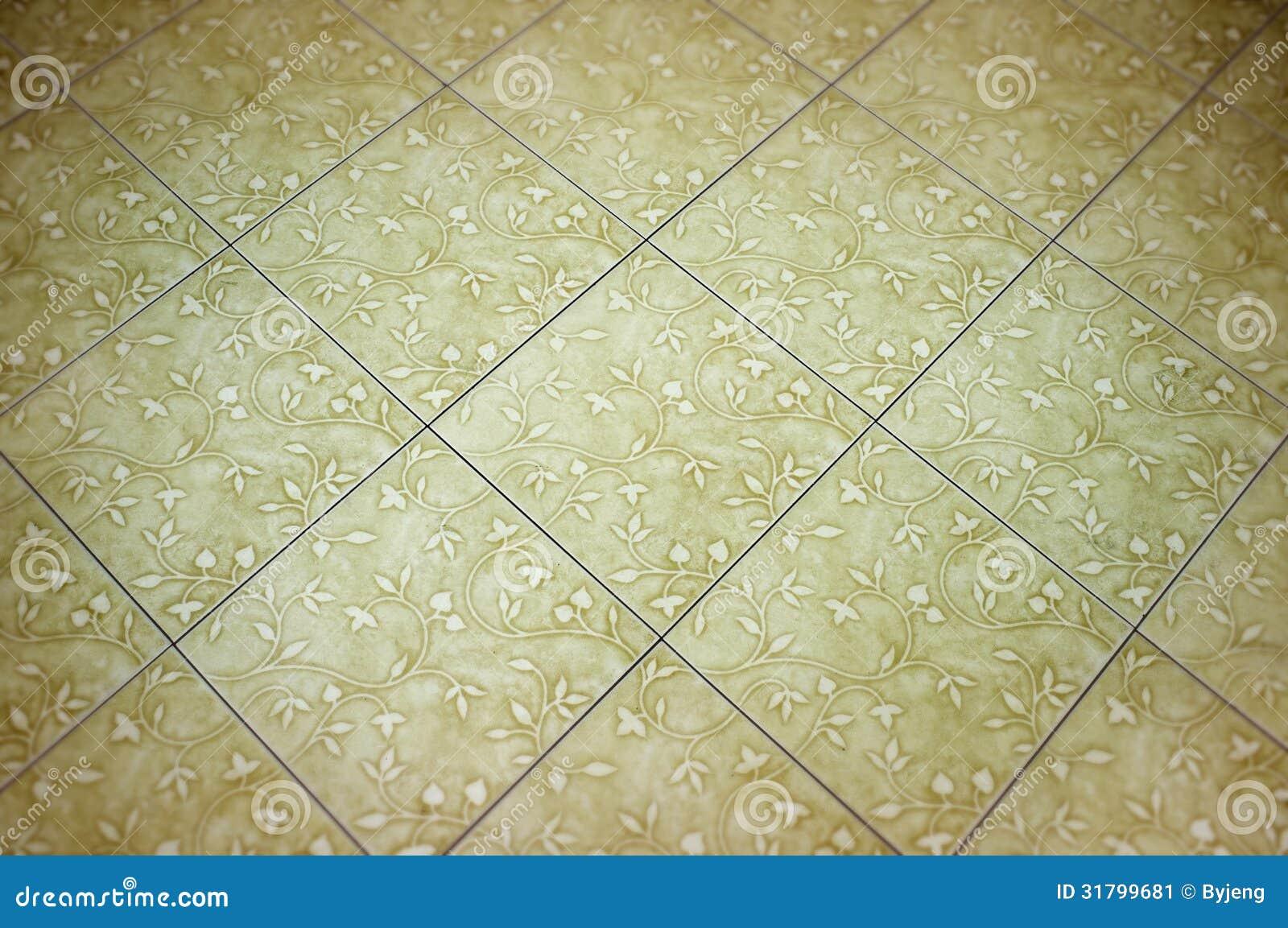 Weiße Keramische Bodenfliesen Stockbild - Bild: 31799681