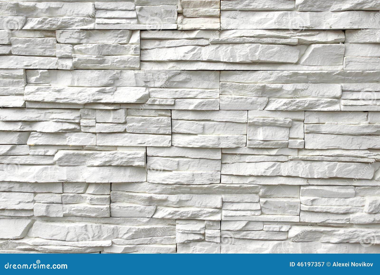 Weiße Kunststein-Wand Hintergrund und Beschaffenheit für Text oder ...