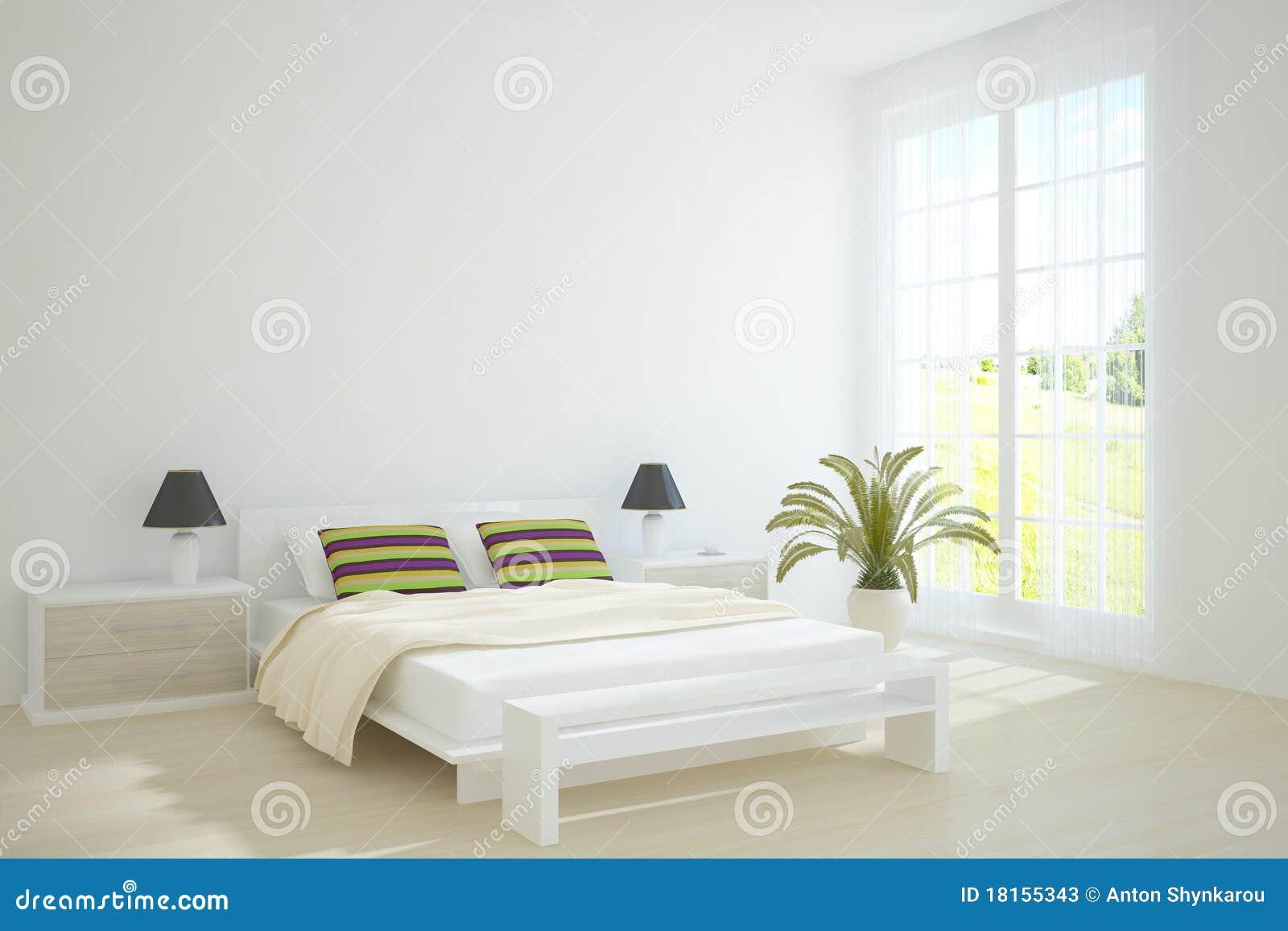 weißes schlafzimmer stockfotos - bild: 18155343