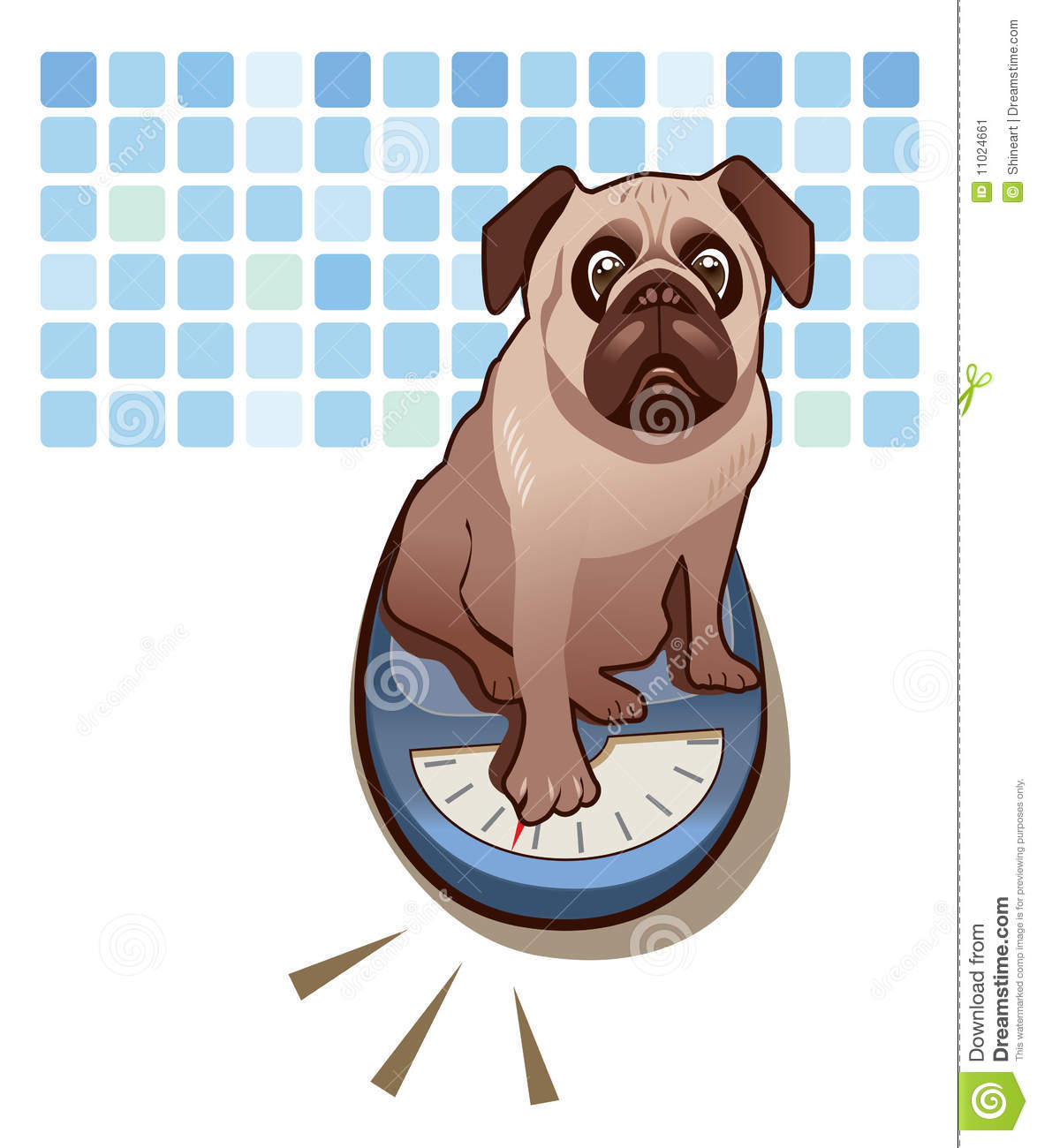 Weighing Stock Vector Illustration Of Editable Funny 11024661
